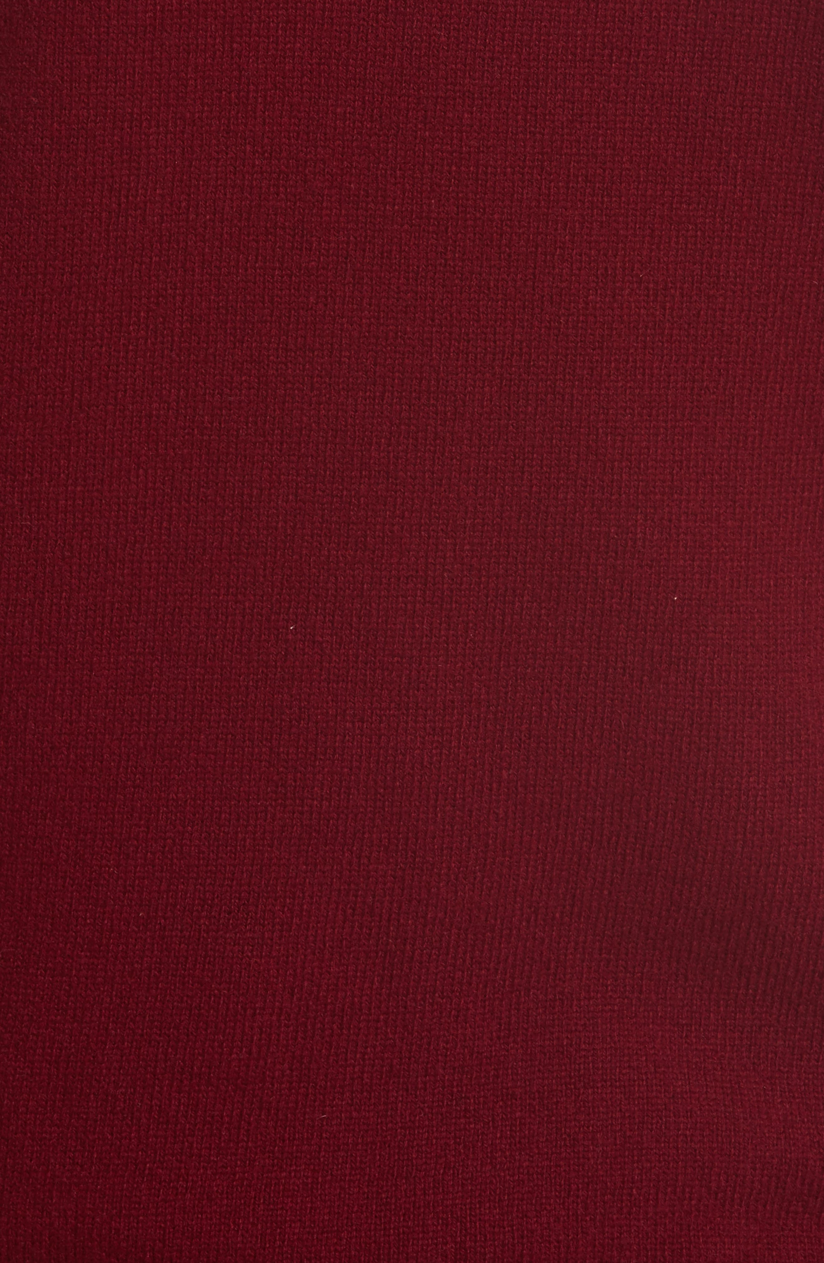 Comme des Garçons PLAY Wool Cardigan,                             Alternate thumbnail 5, color,                             Burgundy