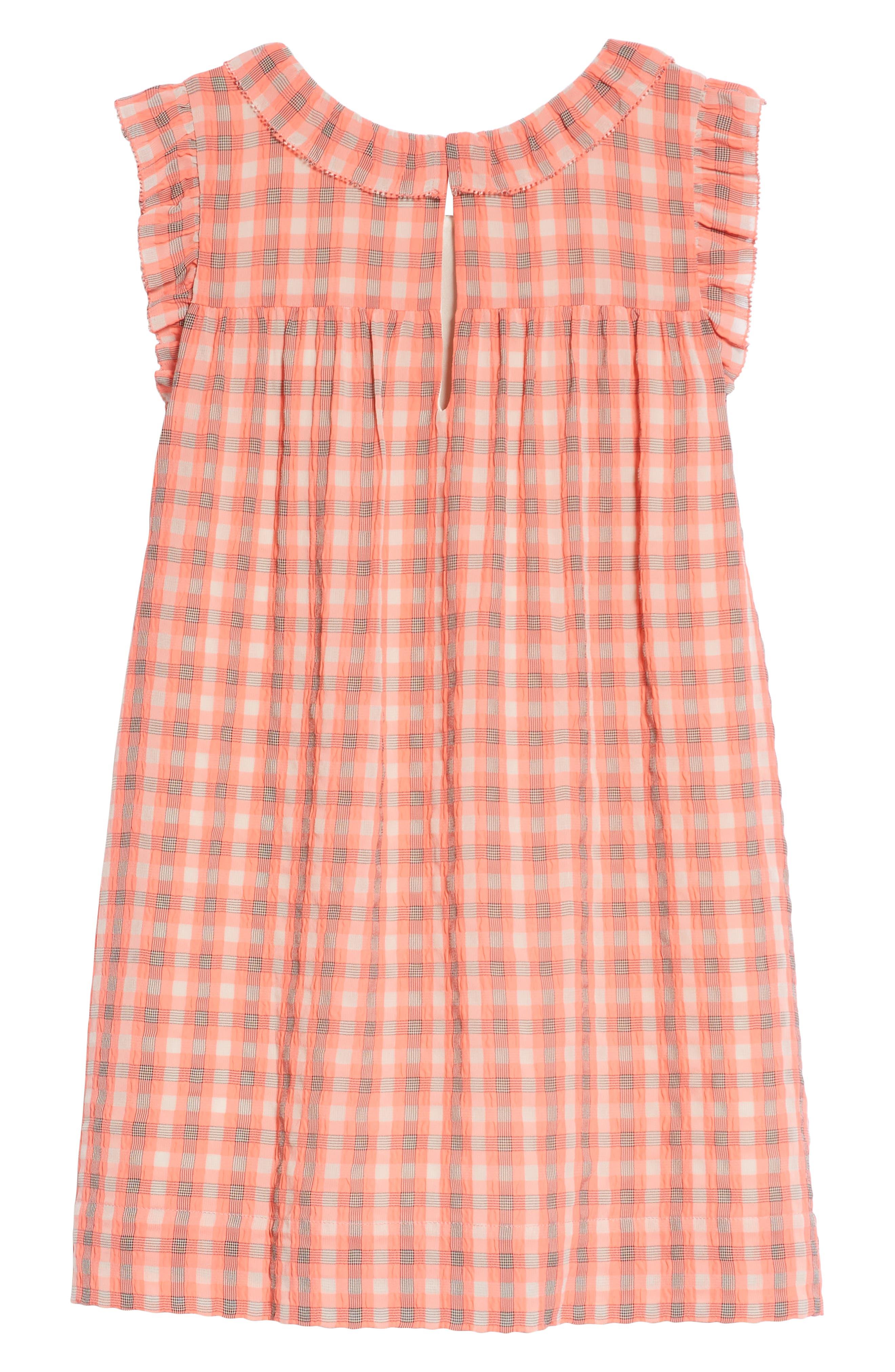 Alternate Image 2  - Burberry Magnoly Check Ruffle Dress (Little Girls & Big Girls)