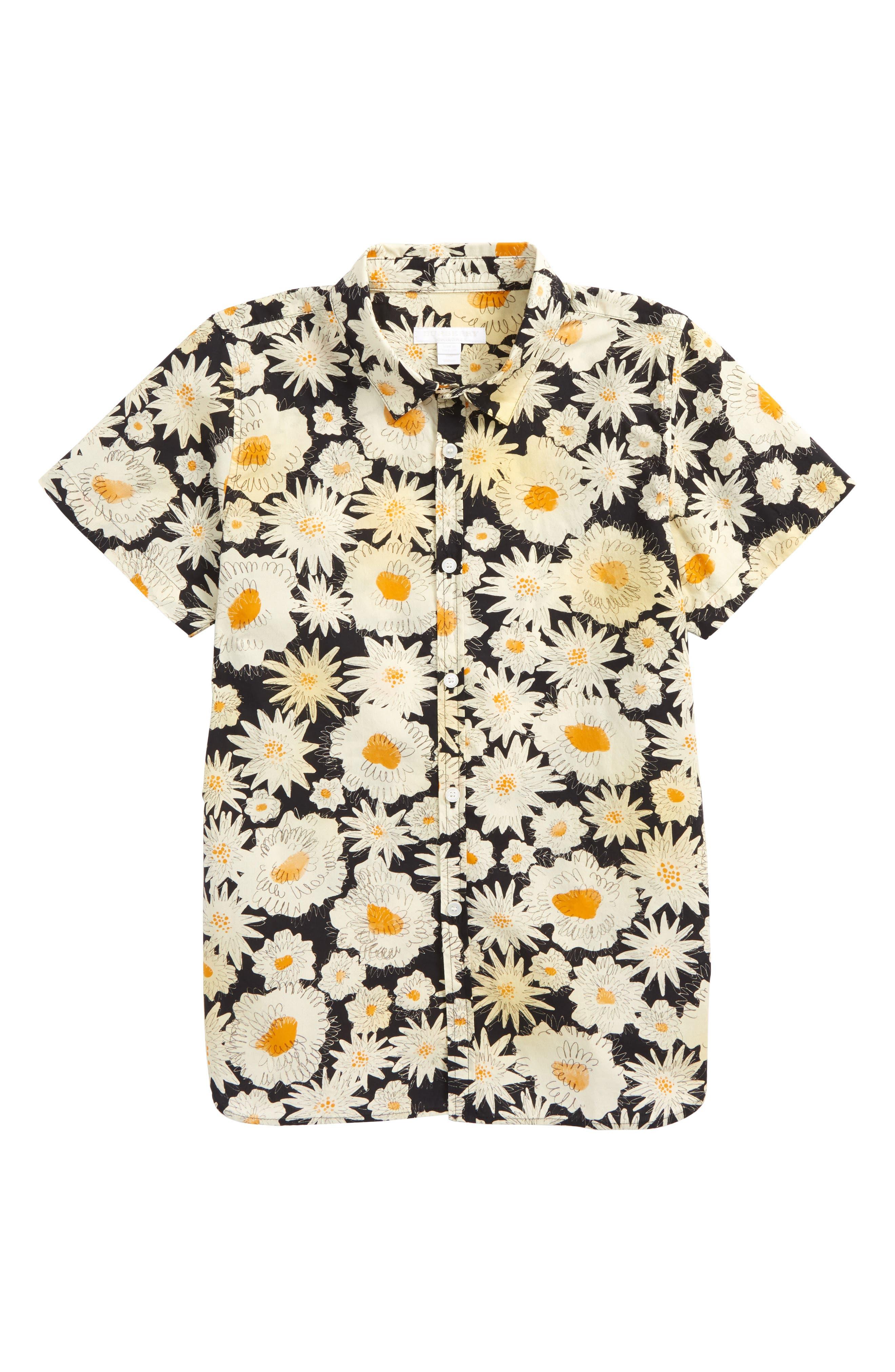 Main Image - Burberry Clarkey Woven Shirt (Little Boys & Big Boys)