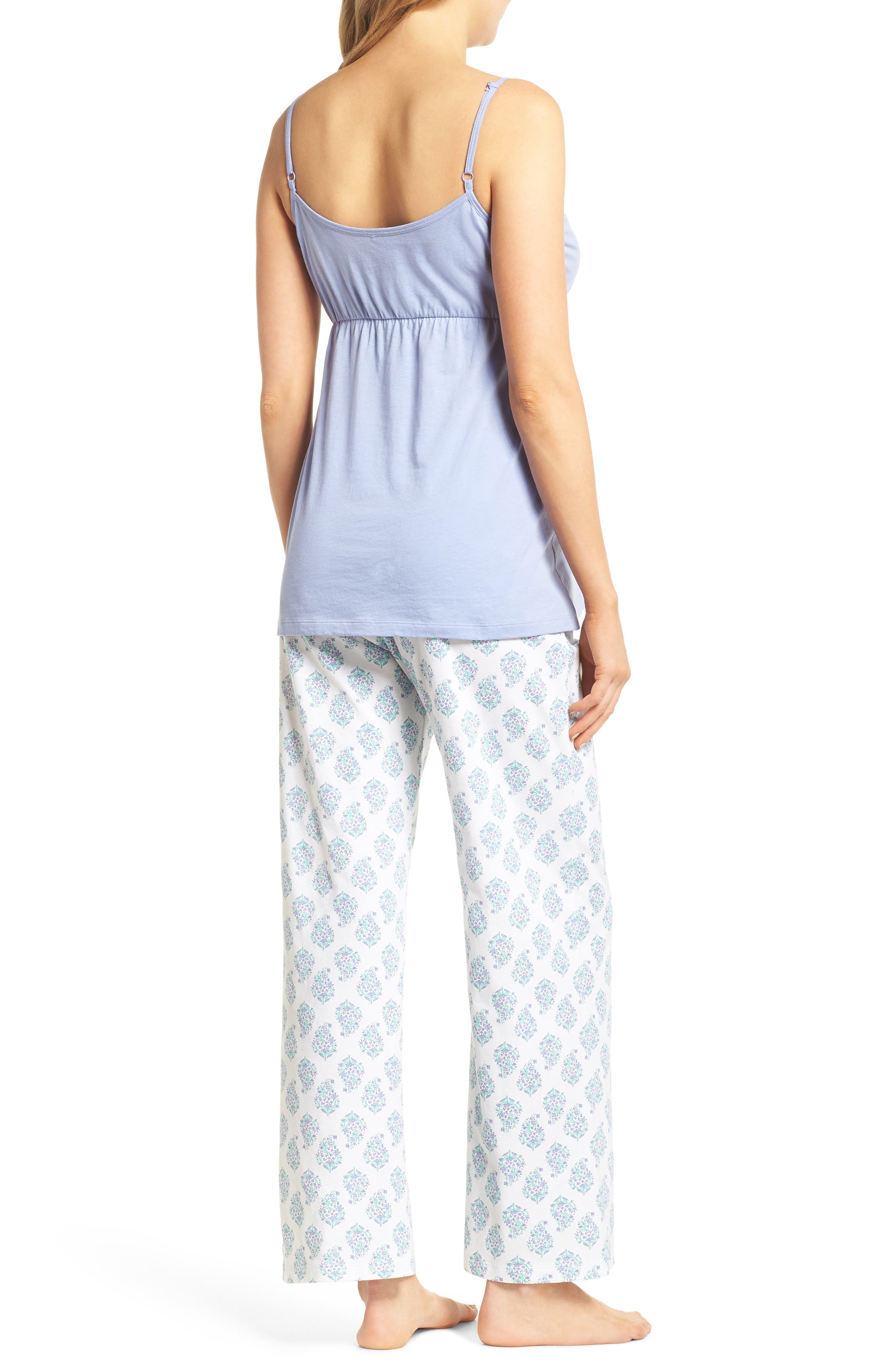 Violette Maternity/Nursing Pajamas,                             Alternate thumbnail 2, color,                             Indian Print