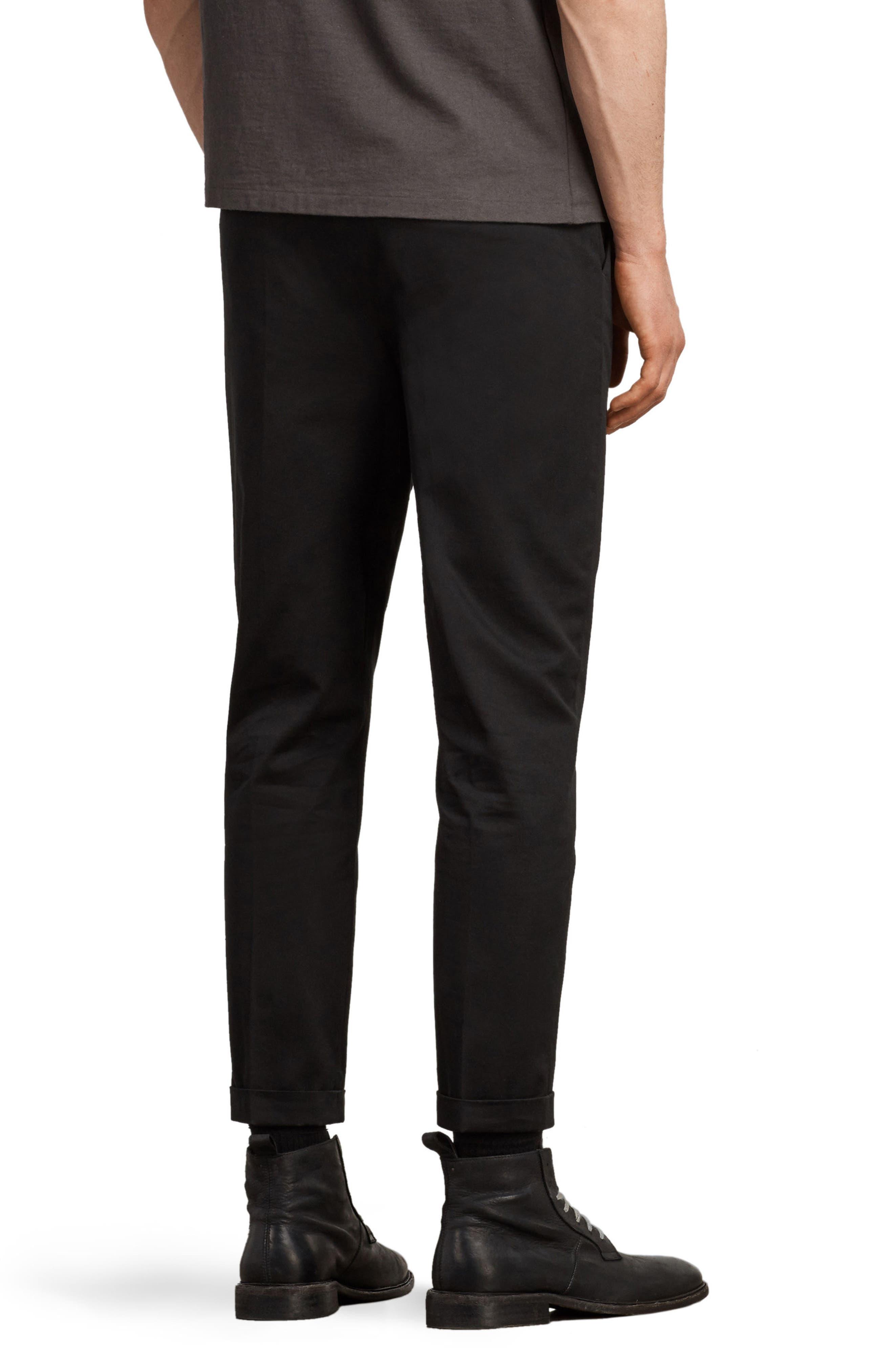 Salco Slim Fit Chino Pants,                             Alternate thumbnail 2, color,                             Black