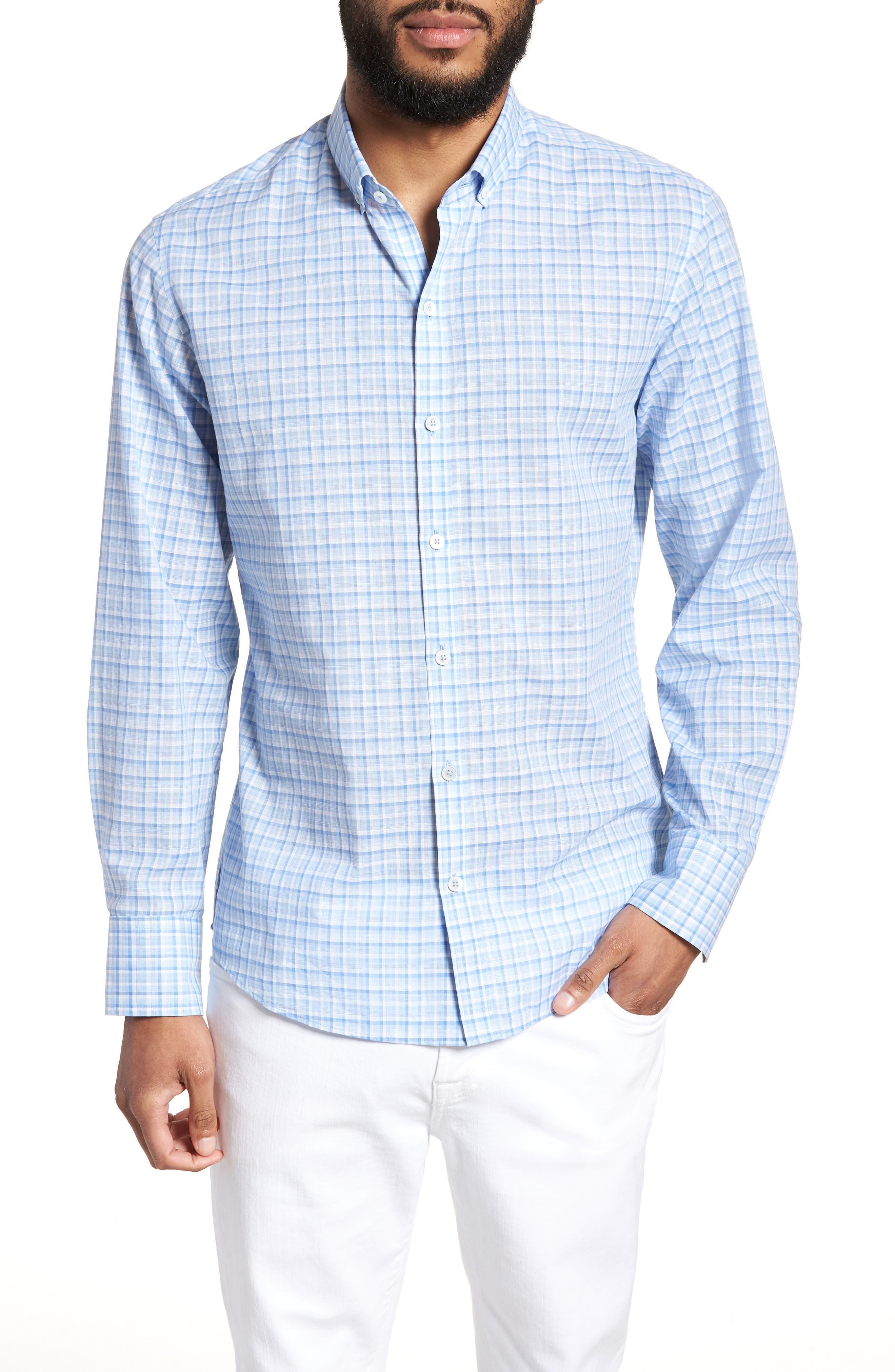 Suresh Regular Fit Sport Shirt,                         Main,                         color, Sky