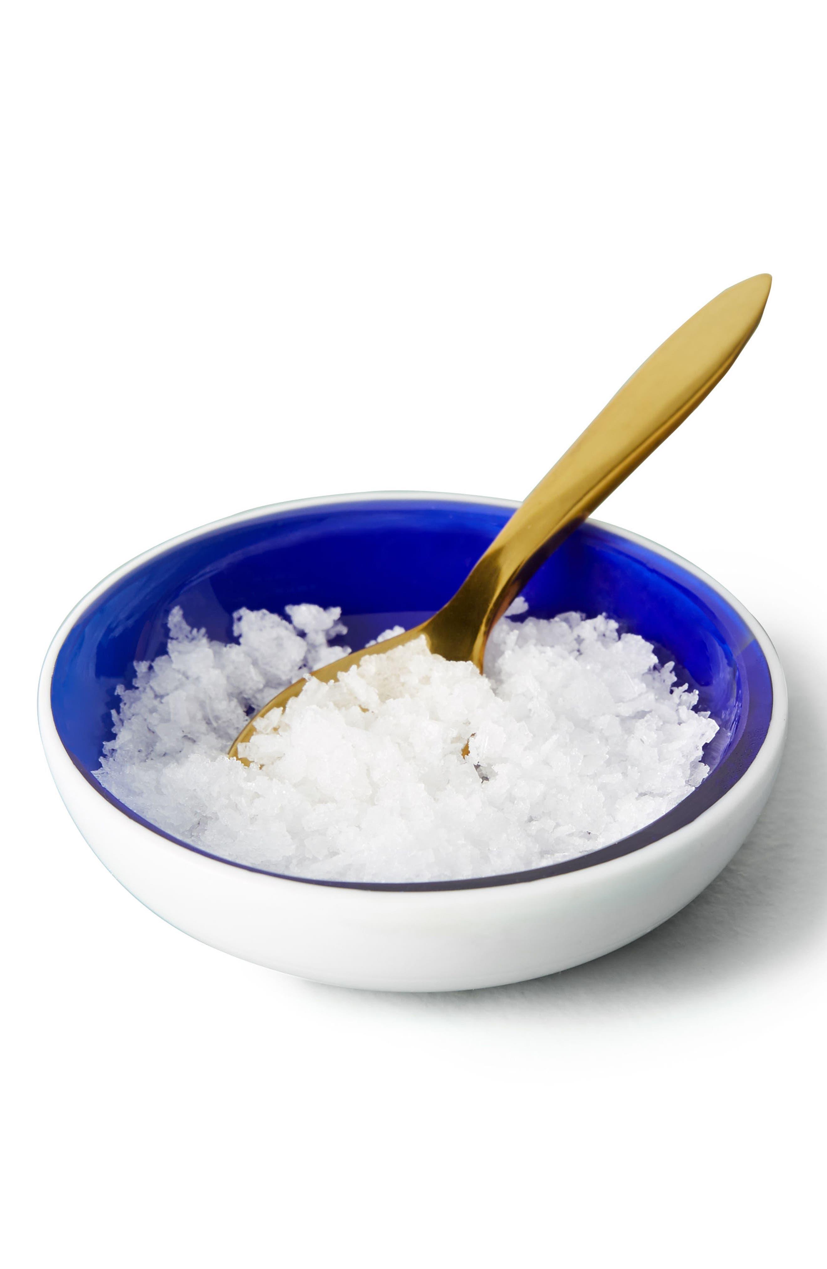 Luray Salt Cellar & Spoon Set,                             Alternate thumbnail 4, color,                             Blue