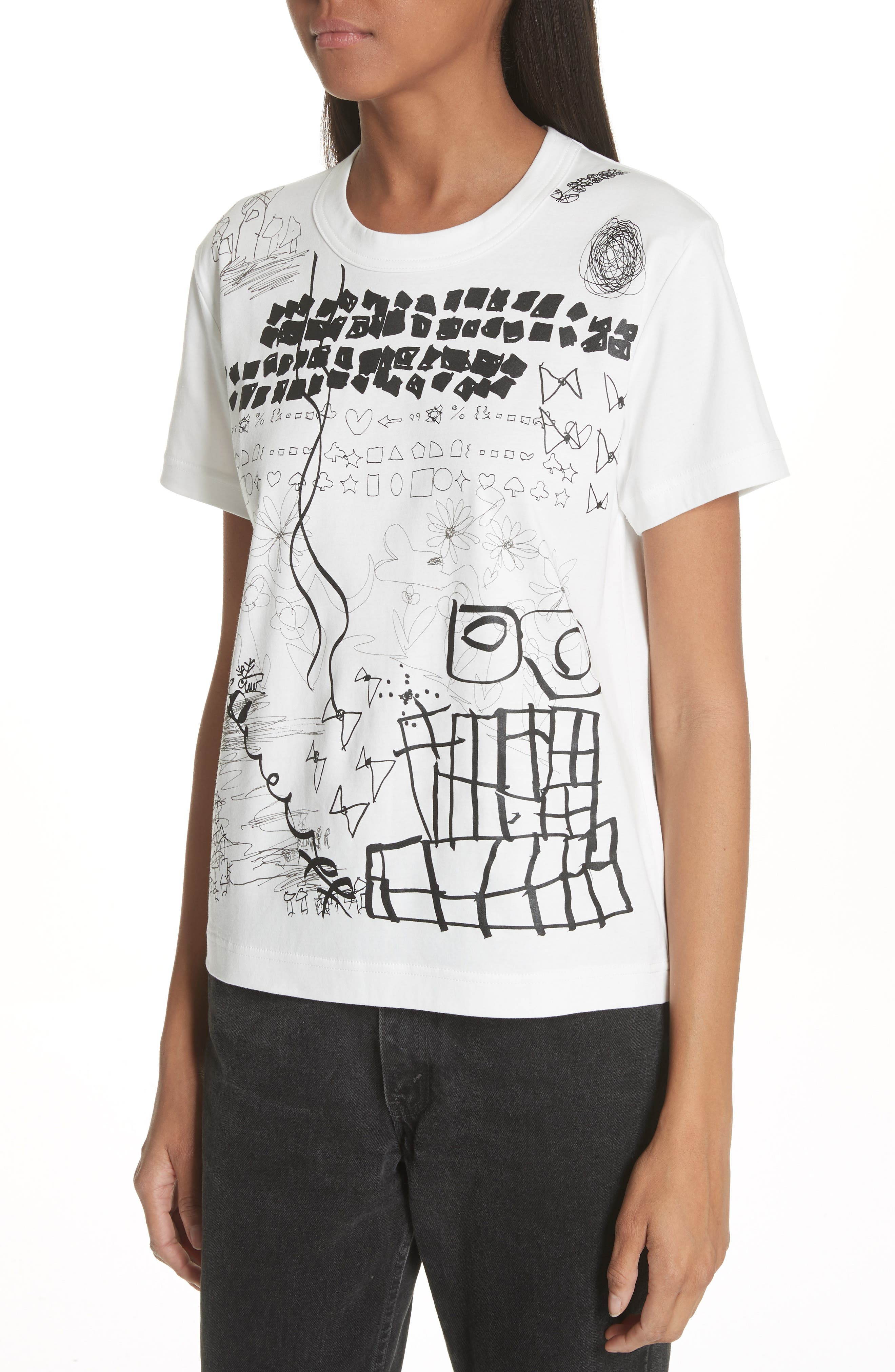 Graphic Tee,                             Alternate thumbnail 4, color,                             White