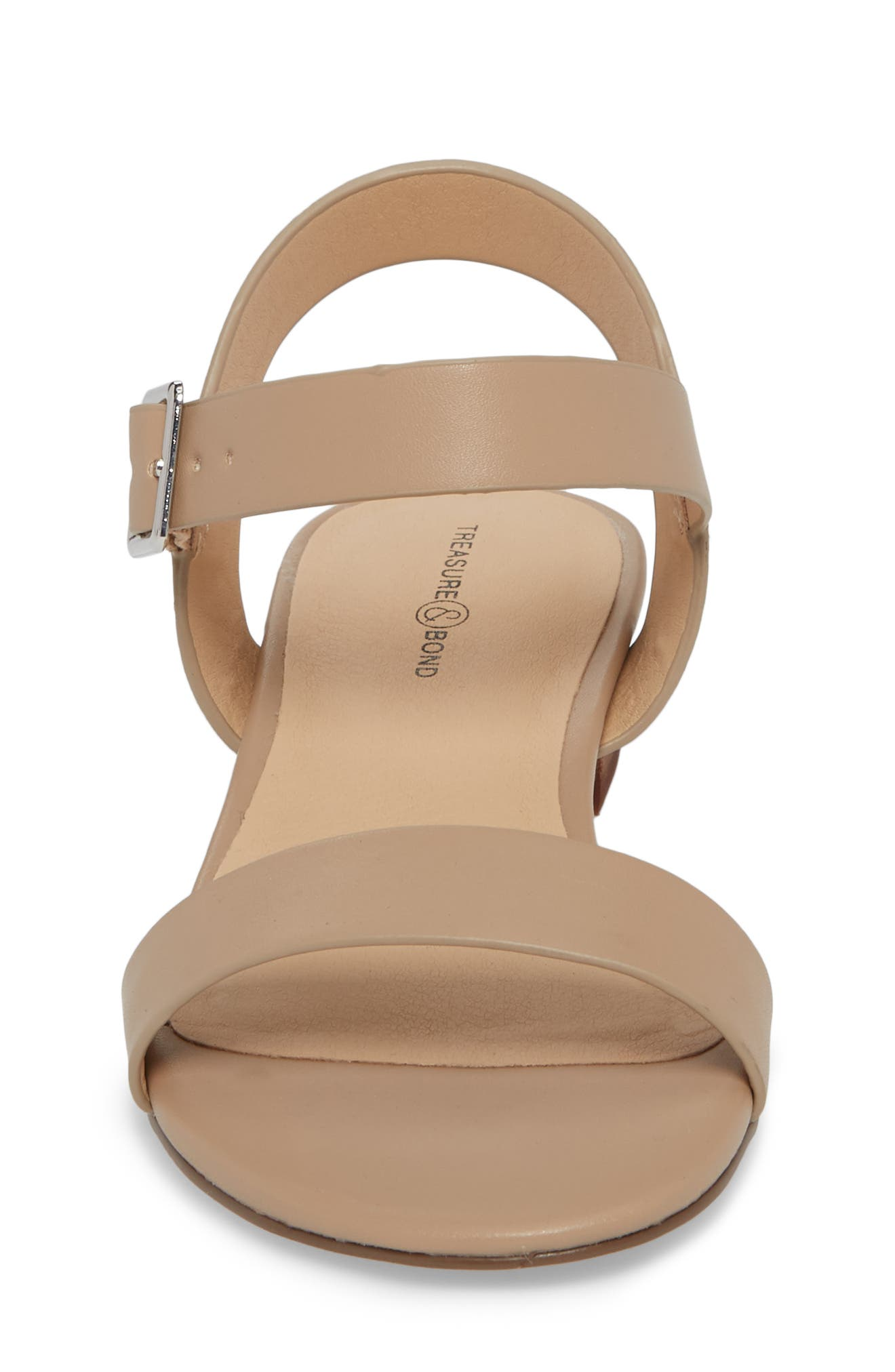 Emma Sandal,                             Alternate thumbnail 4, color,                             Natural Faux Leather