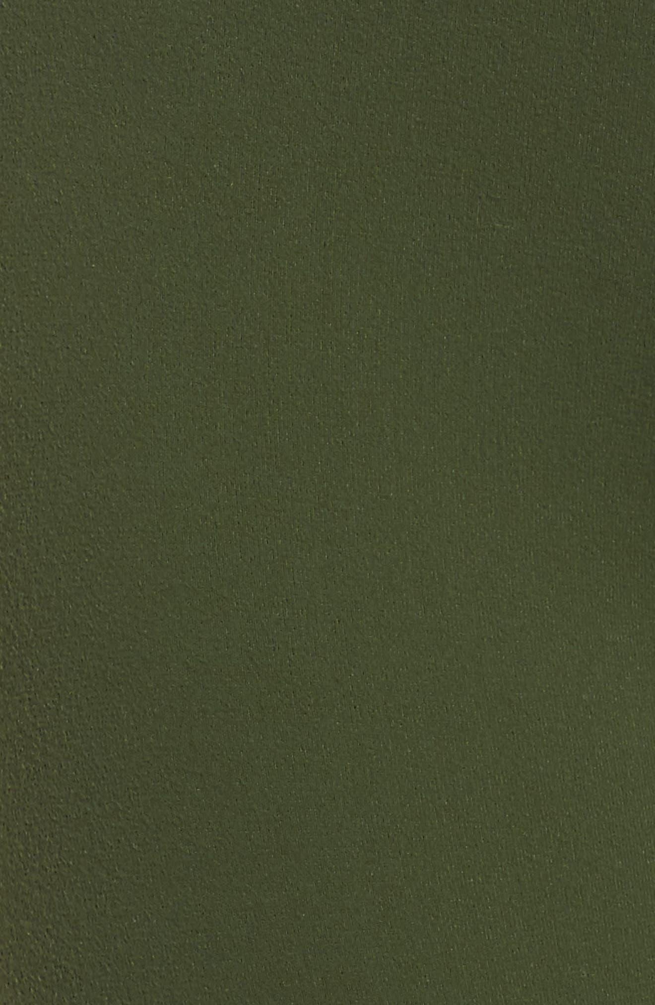 High Waist Capri Leggings,                             Alternate thumbnail 6, color,                             Jungle Palm