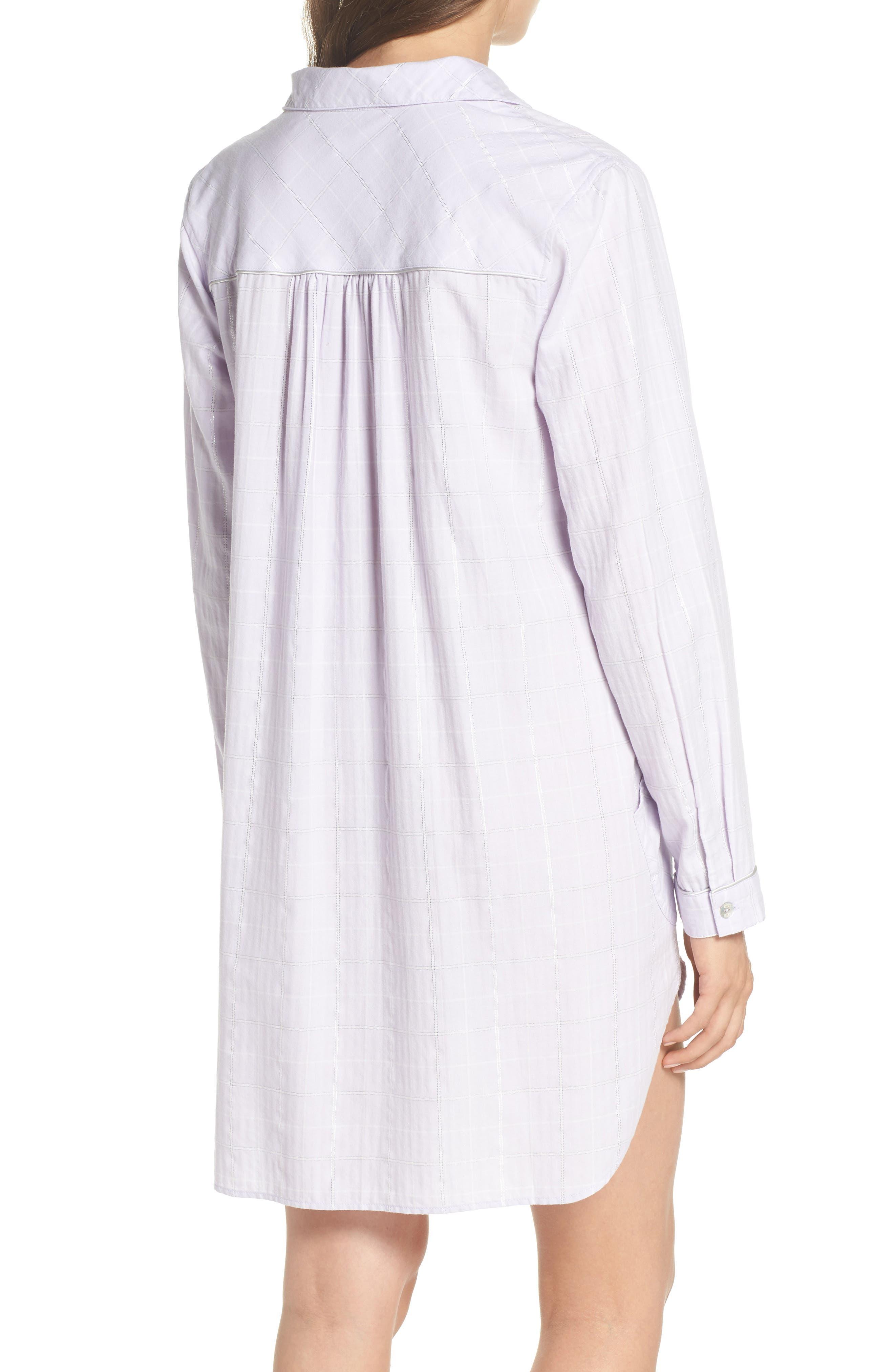 Gabri Sleep Shirt,                             Alternate thumbnail 2, color,                             Lavender Fog