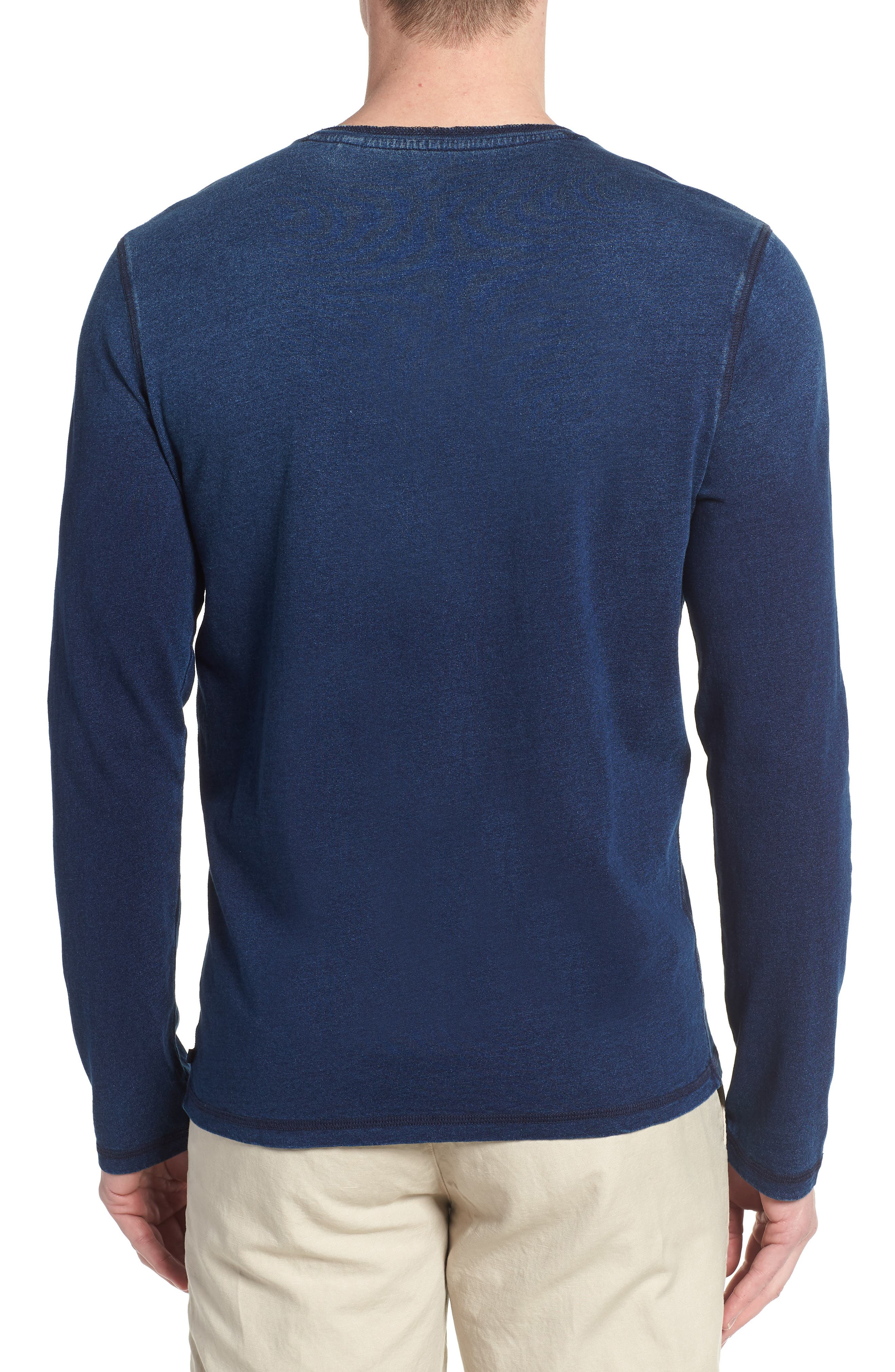 Alternate Image 2  - AG Clyde Slim Fit Cotton Henley