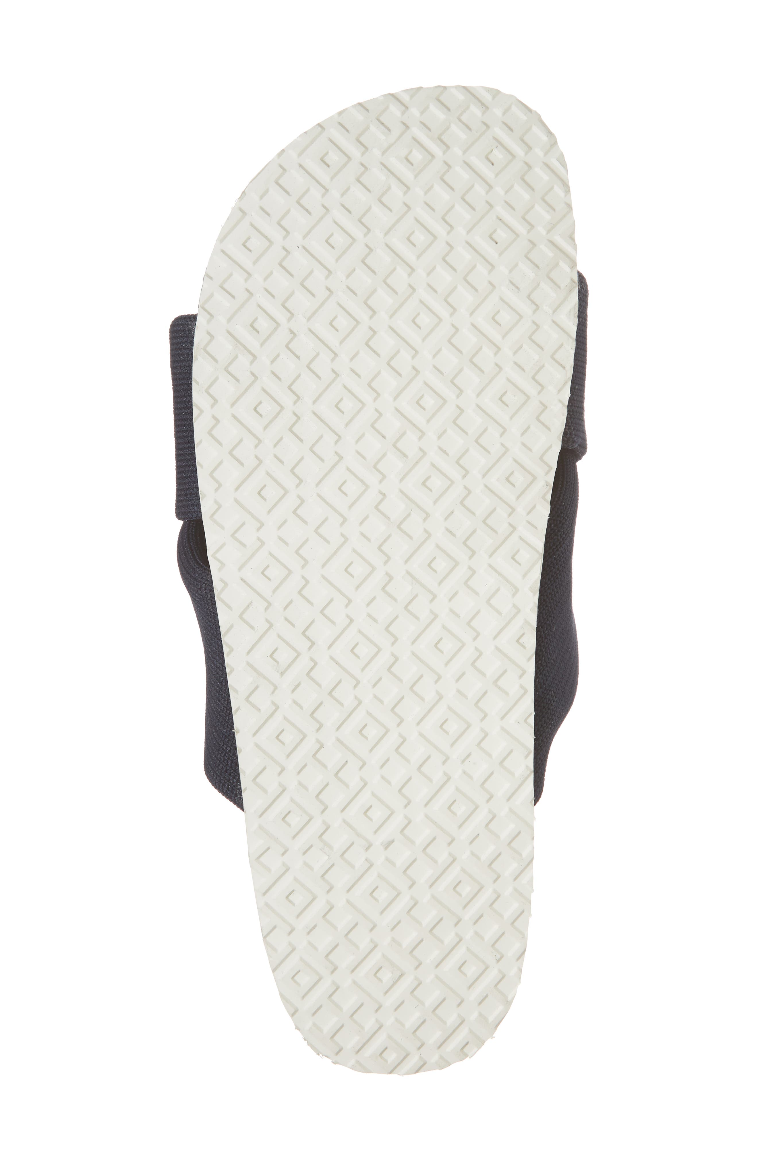 Sidecar Ruffle Slide,                             Alternate thumbnail 6, color,                             Bright Navy/ Show White