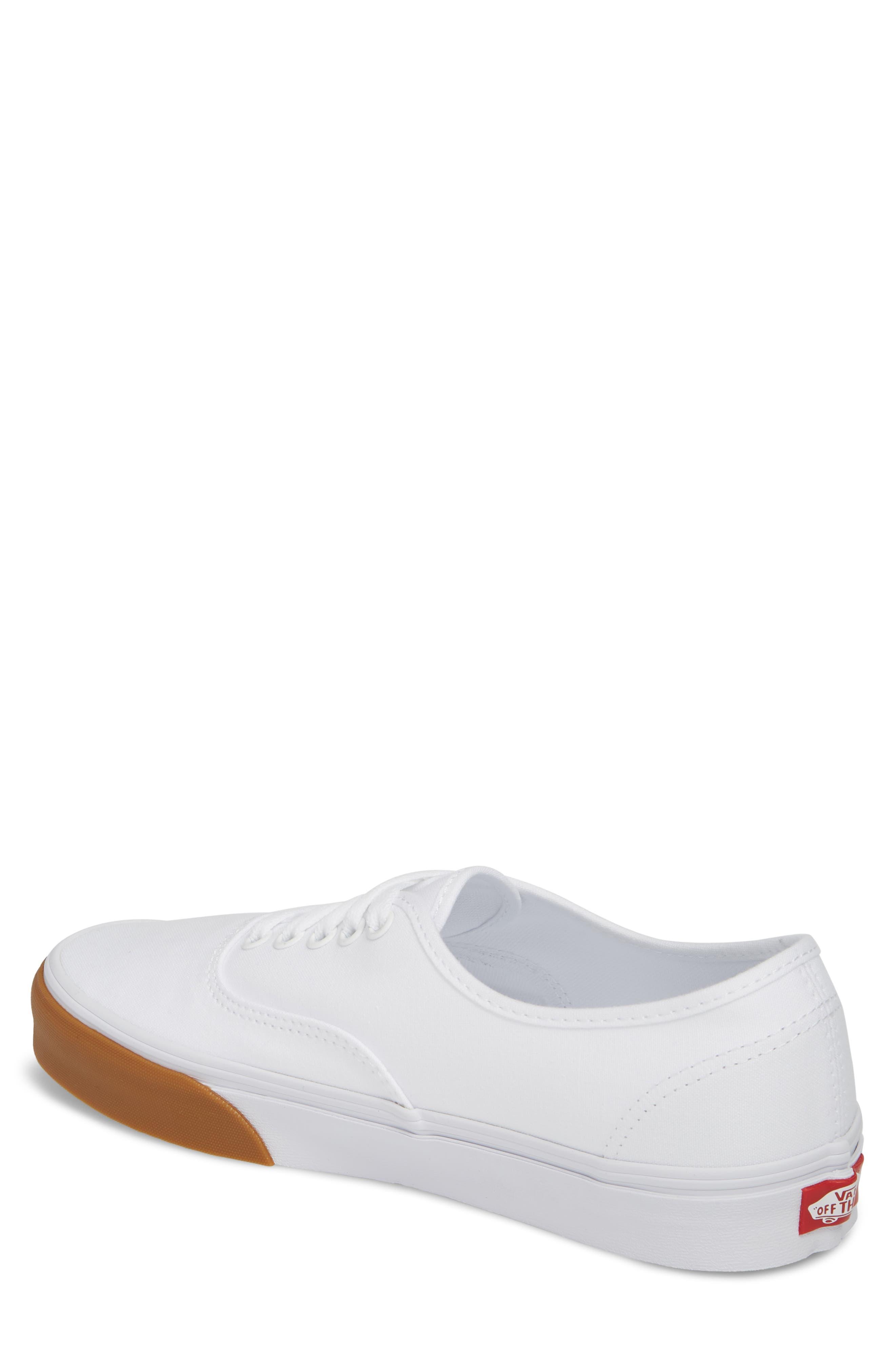 Authentic Gum Bumper Sneaker,                             Alternate thumbnail 2, color,                             True White/ True White