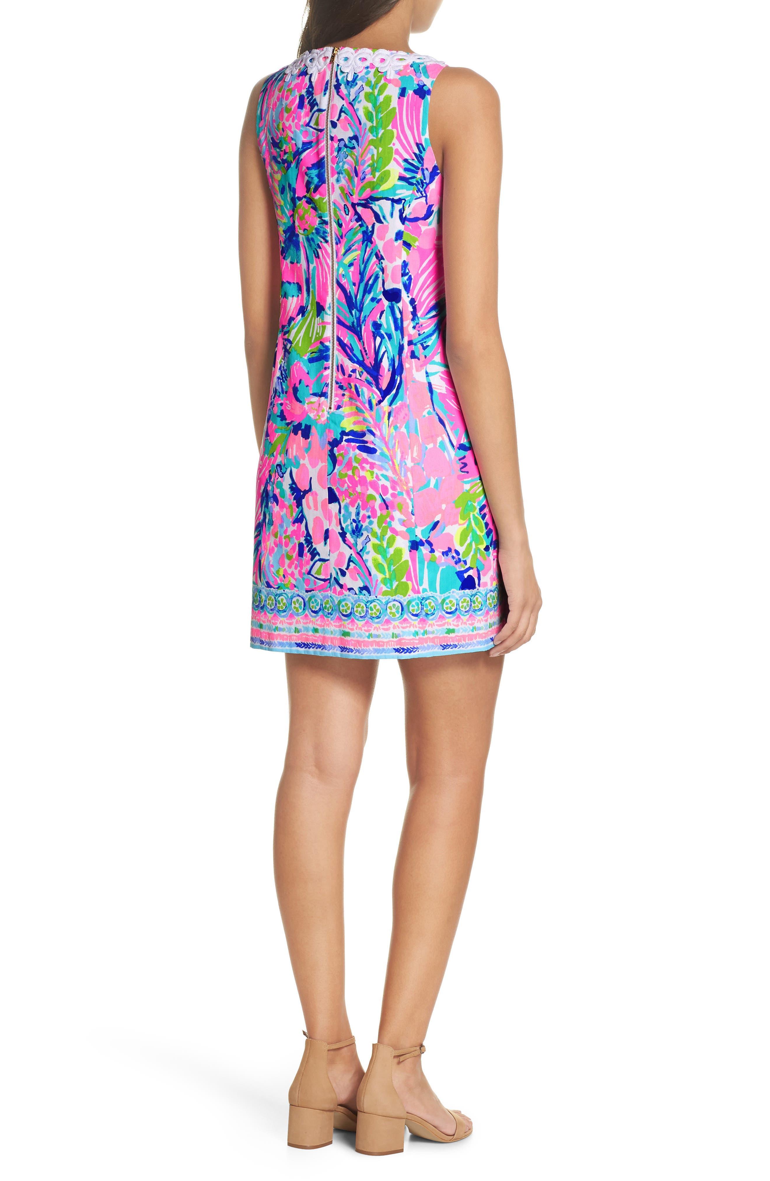 Gabby Tropical Print Dress,                             Alternate thumbnail 2, color,                             Multi Gumbo Limbo