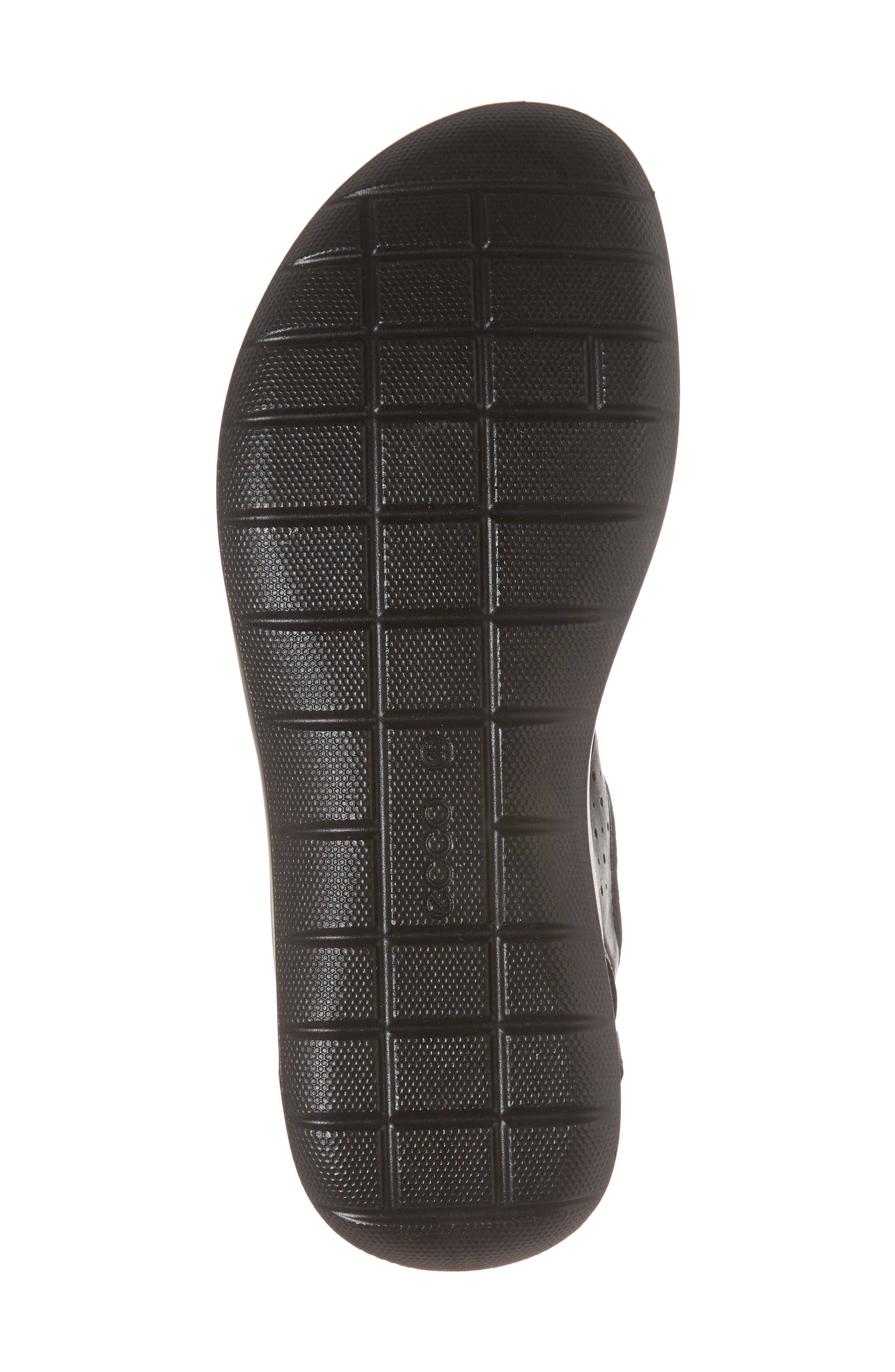 Bluma Toggle Sandal,                             Alternate thumbnail 6, color,                             Black Leather