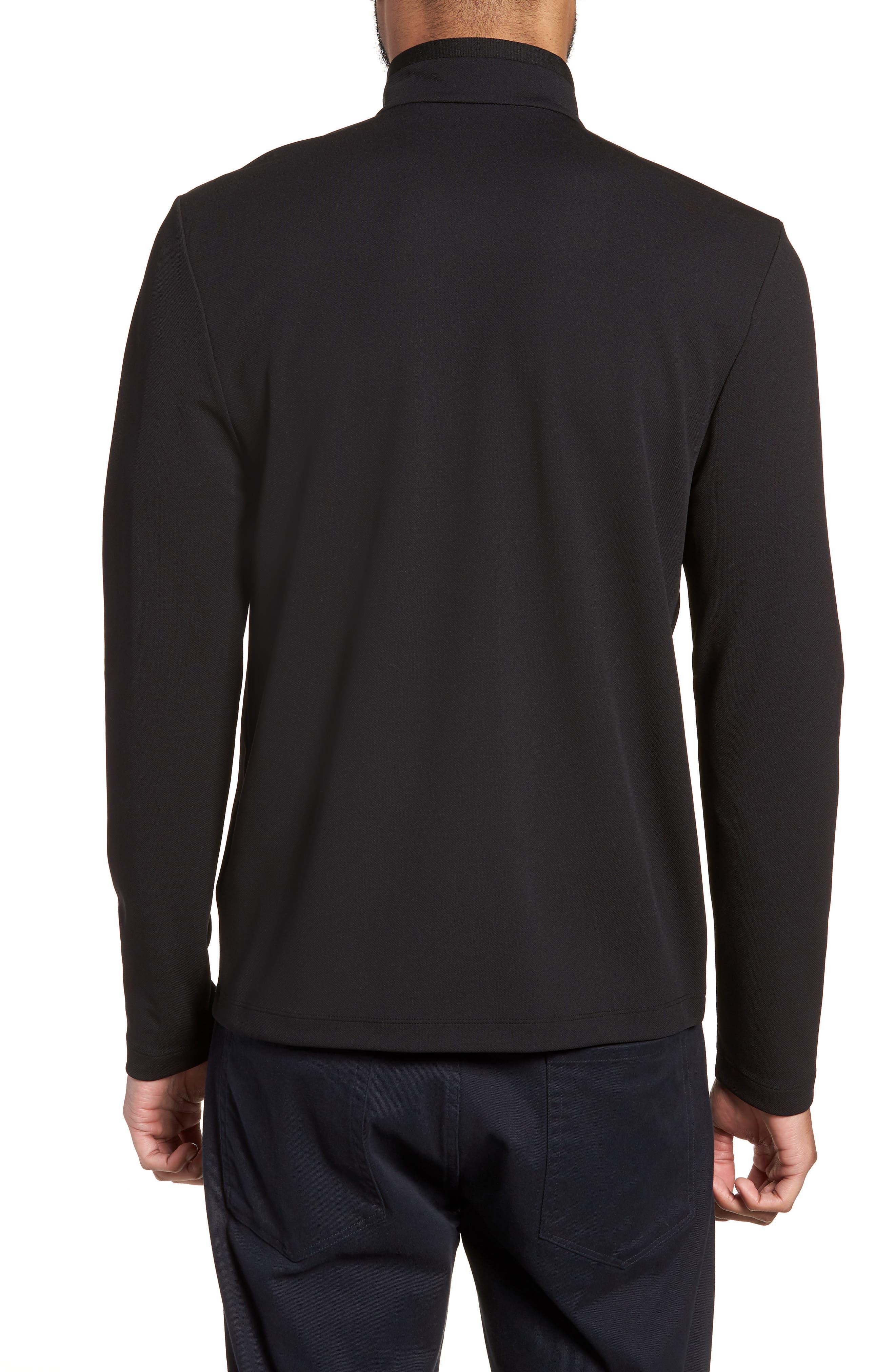 Performance Quarter Zip Pullover,                             Alternate thumbnail 2, color,                             Black/ Black
