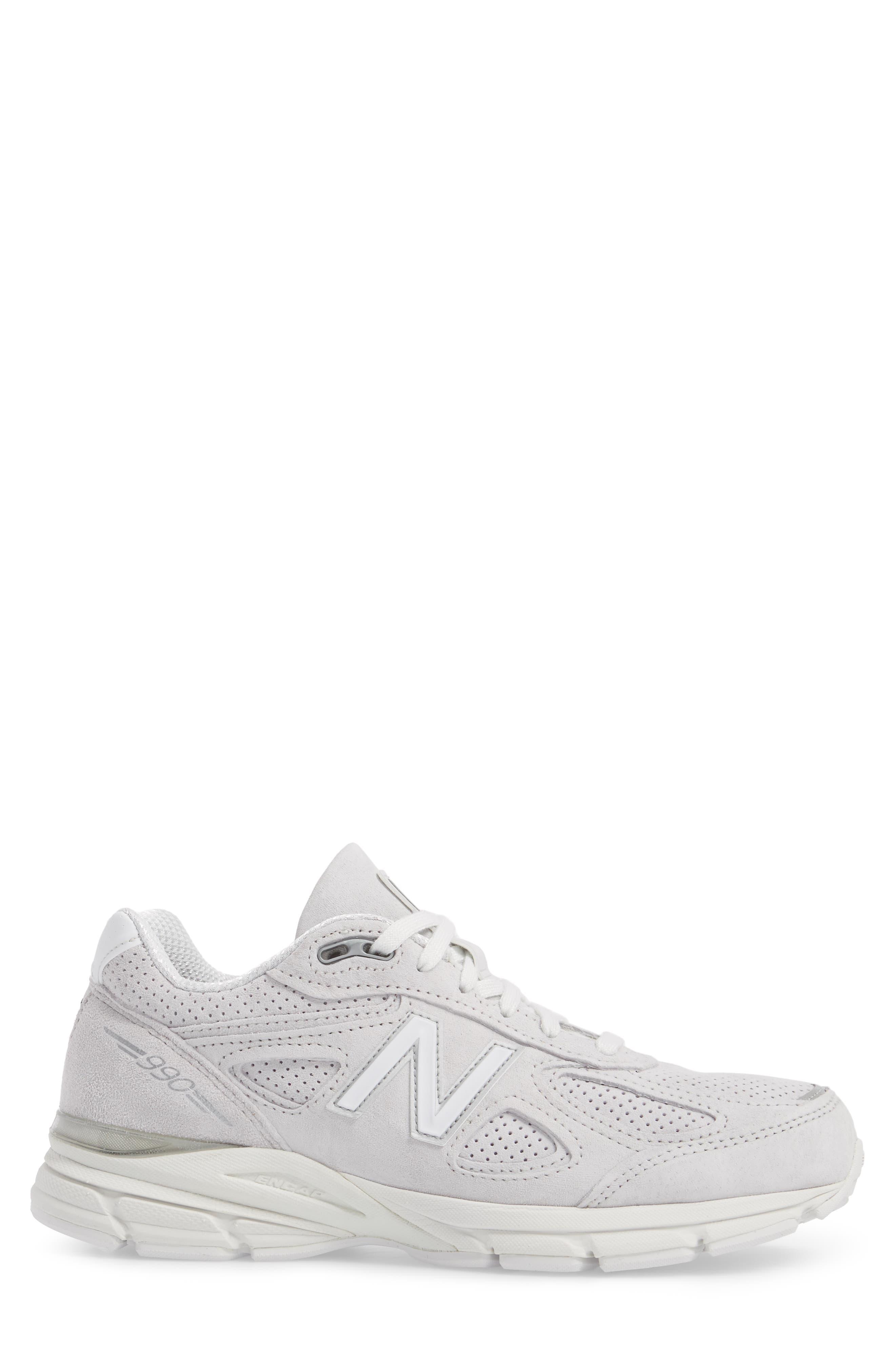 990v4 Perforated Sneaker,                             Alternate thumbnail 3, color,                             Arctic Fox