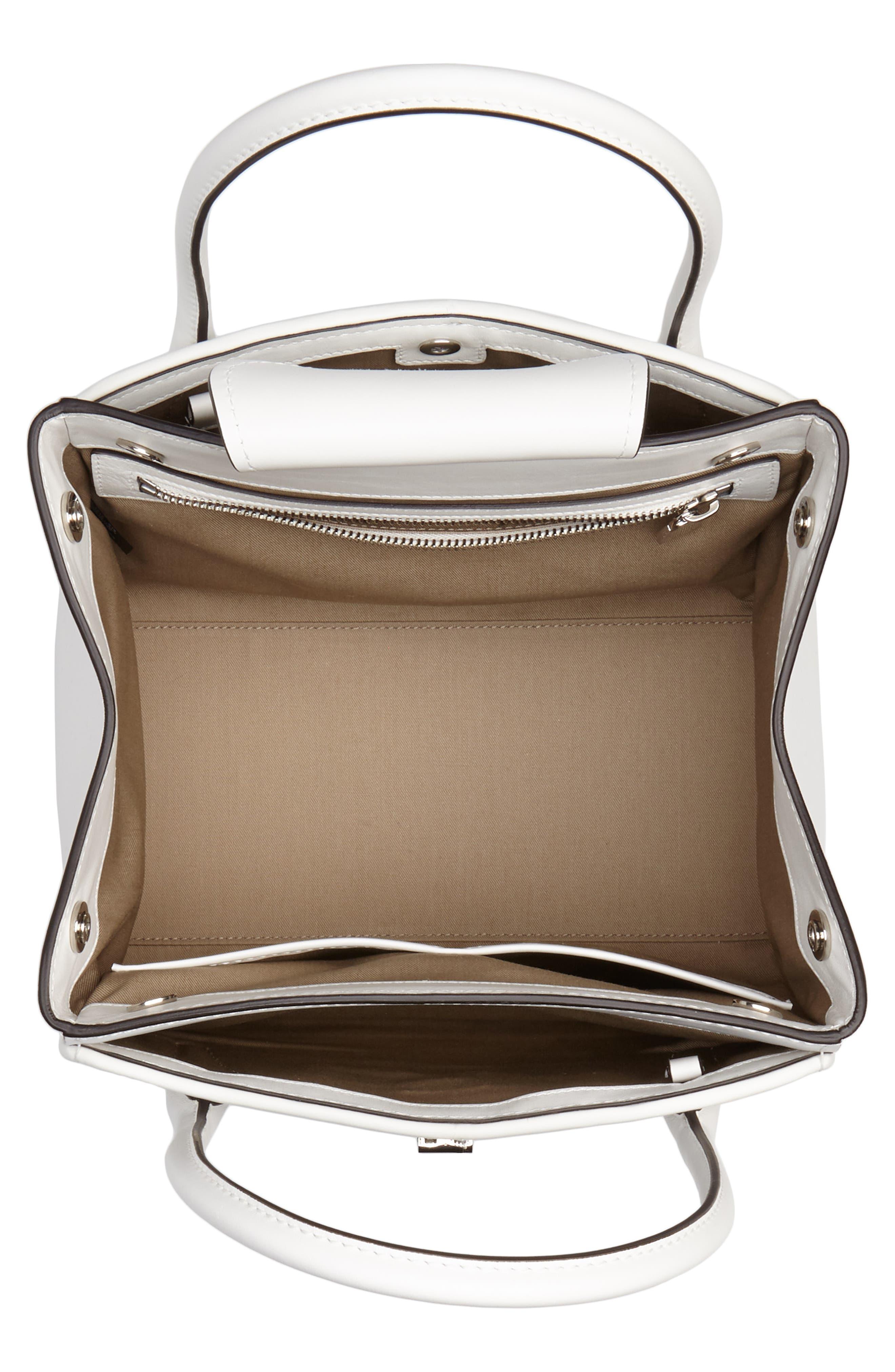 Medium Bancroft Leather Satchel,                             Alternate thumbnail 4, color,                             Optic White