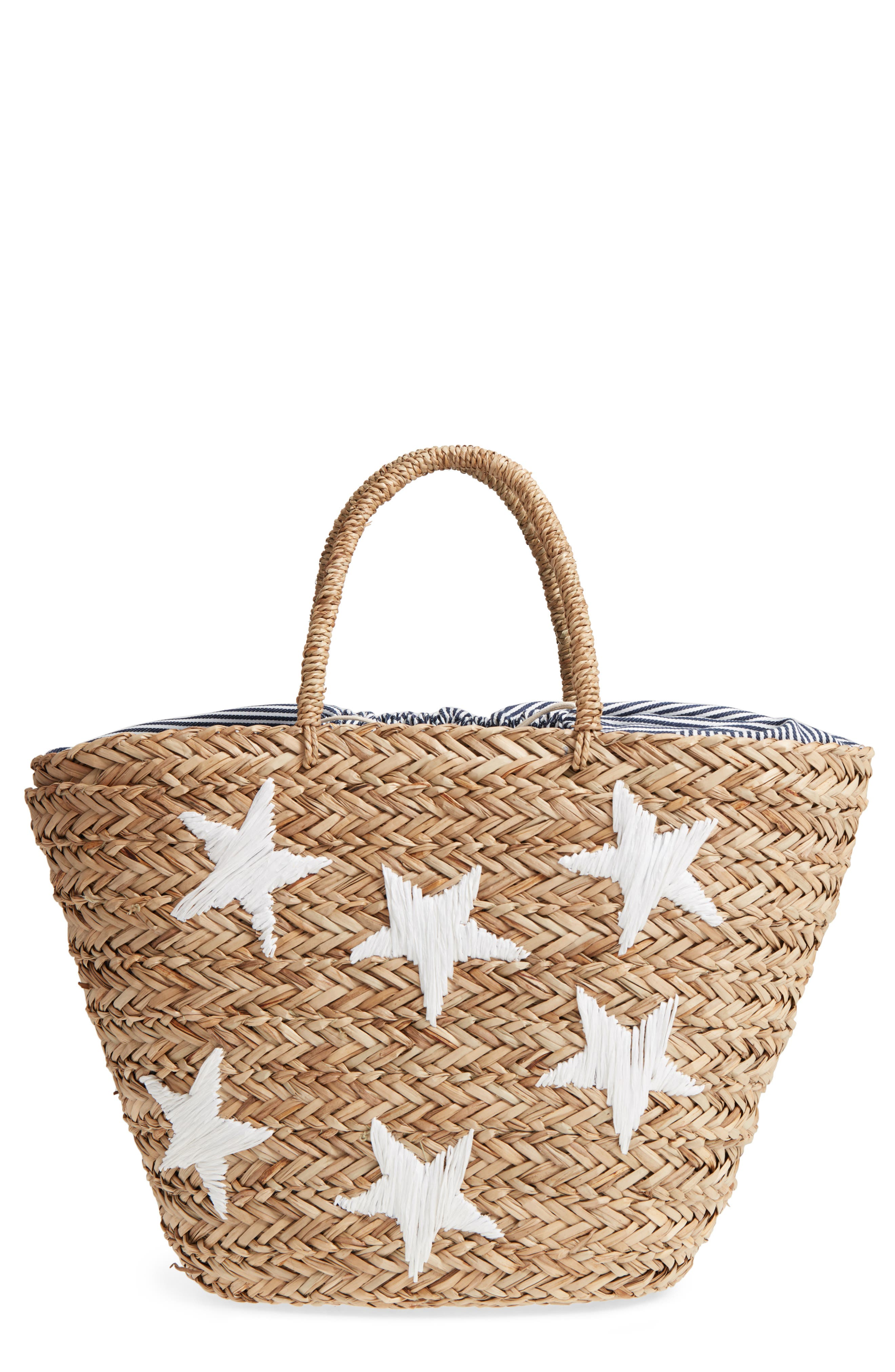 Alternate Image 1 Selected - Nordstrom Stargaze Woven Sea Grass Tote