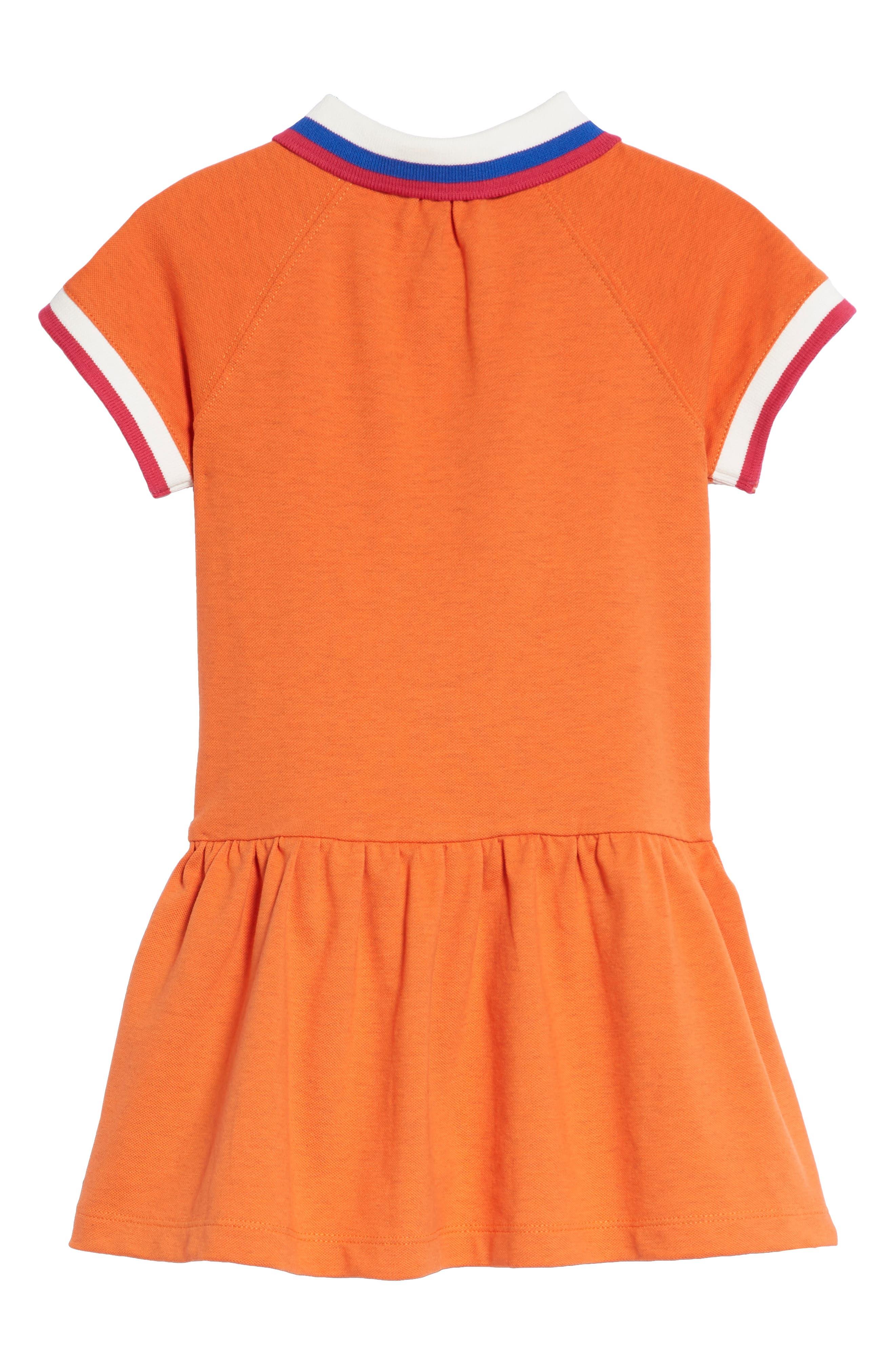 Burbery Cali Polo Dress,                             Alternate thumbnail 2, color,                             Brt Clementine Mel
