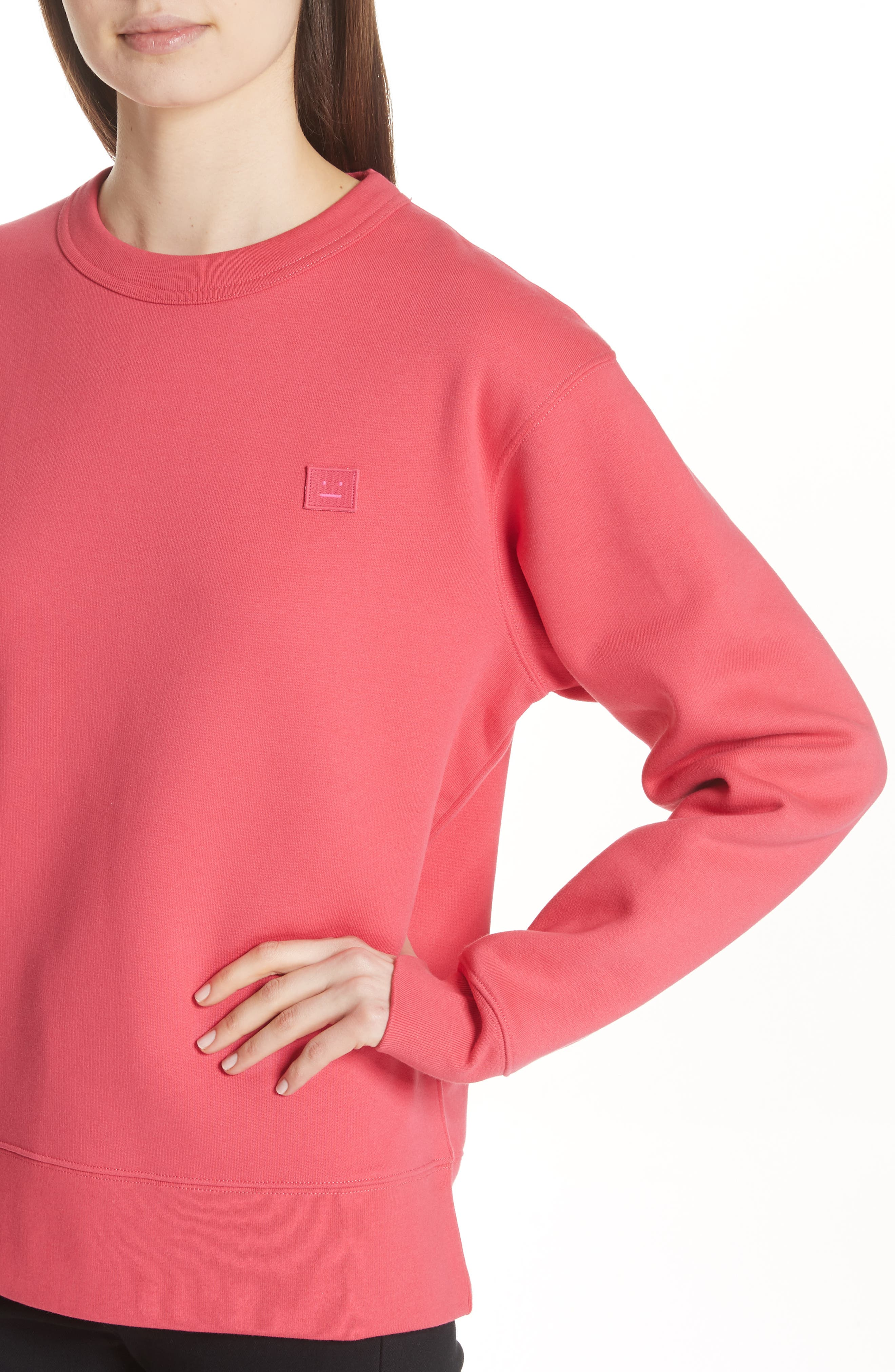 Fairview Crewneck Sweatshirt,                             Alternate thumbnail 4, color,                             Neon Pink