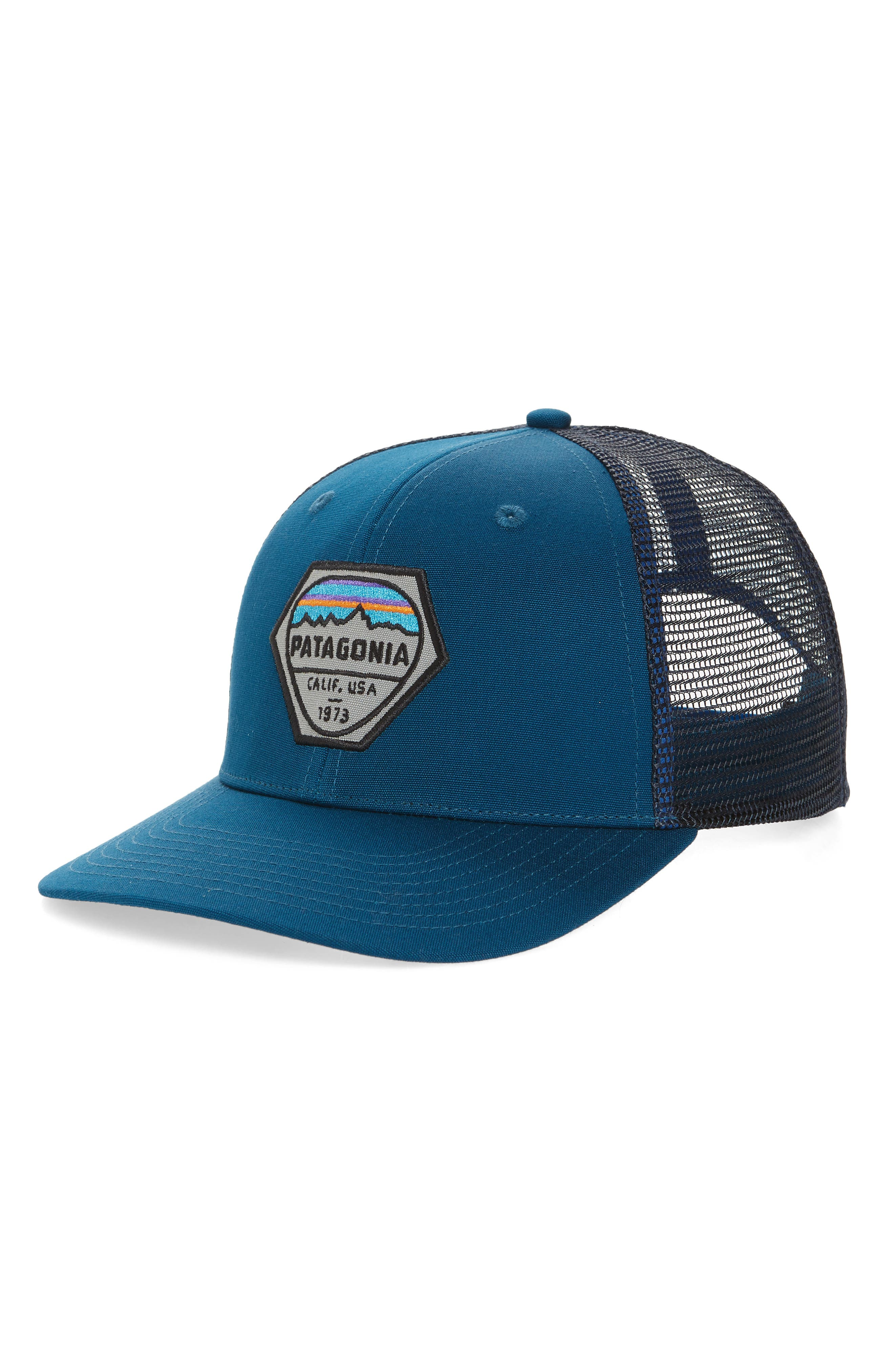 fcedf49cf30 Patagonia Fitz Roy Hex Trucker Cap - Blue In Big Sur Blue