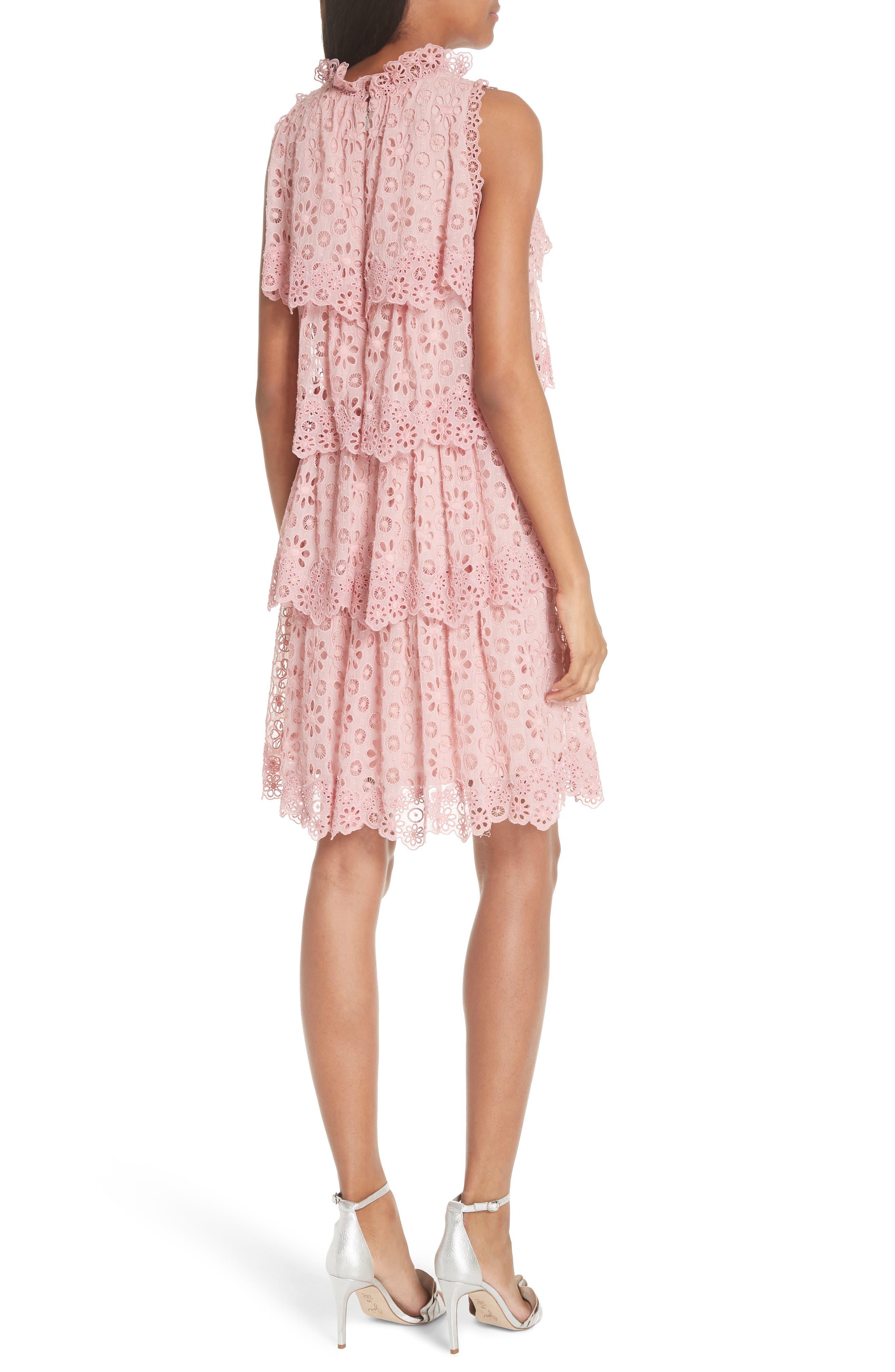 Sleeveless Pinwheel Dress,                             Alternate thumbnail 2, color,                             Peony