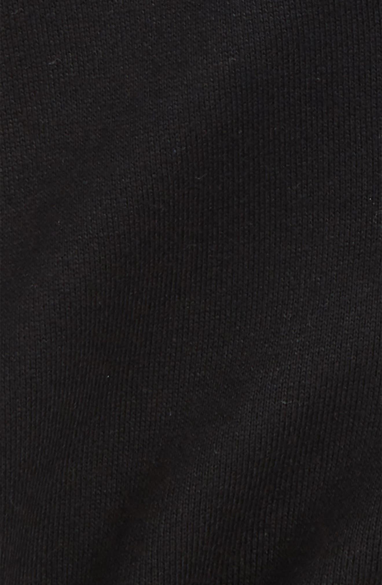 Knit Shorts,                             Alternate thumbnail 2, color,                             Black-Solid