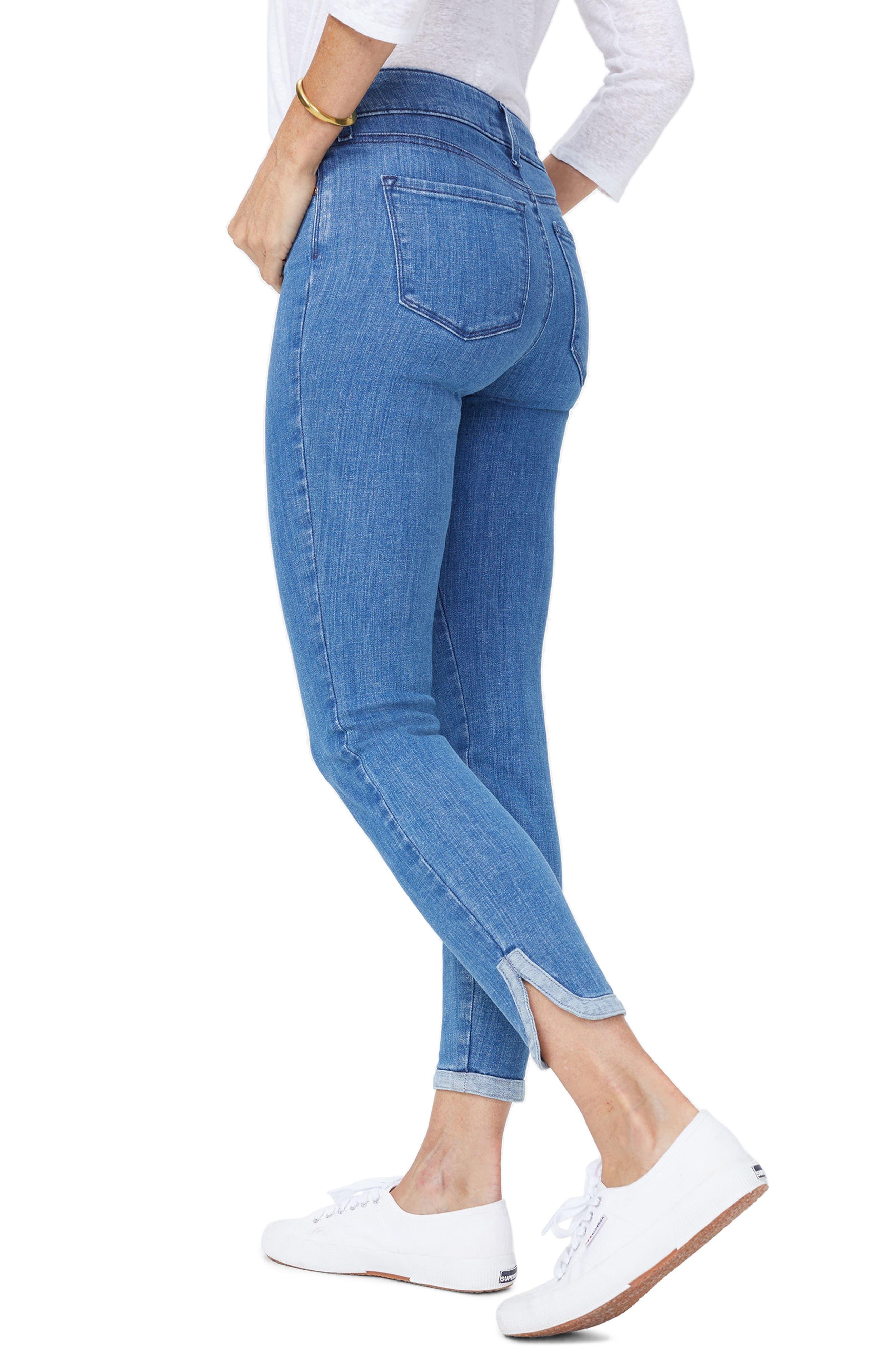 Ami Side Slit Ankle Skinny Jeans,                             Alternate thumbnail 2, color,                             Bliss