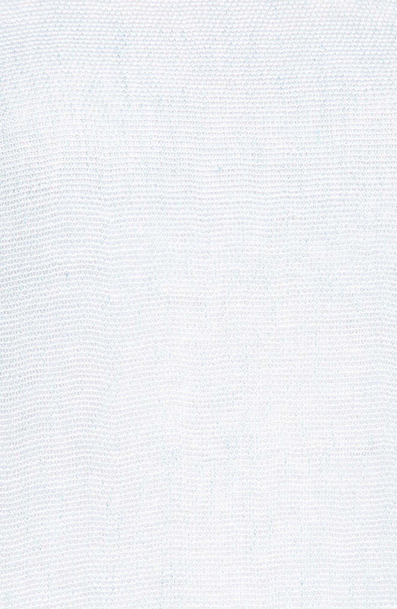 Organic Linen Blend Tunic,                             Alternate thumbnail 6, color,                             Pool