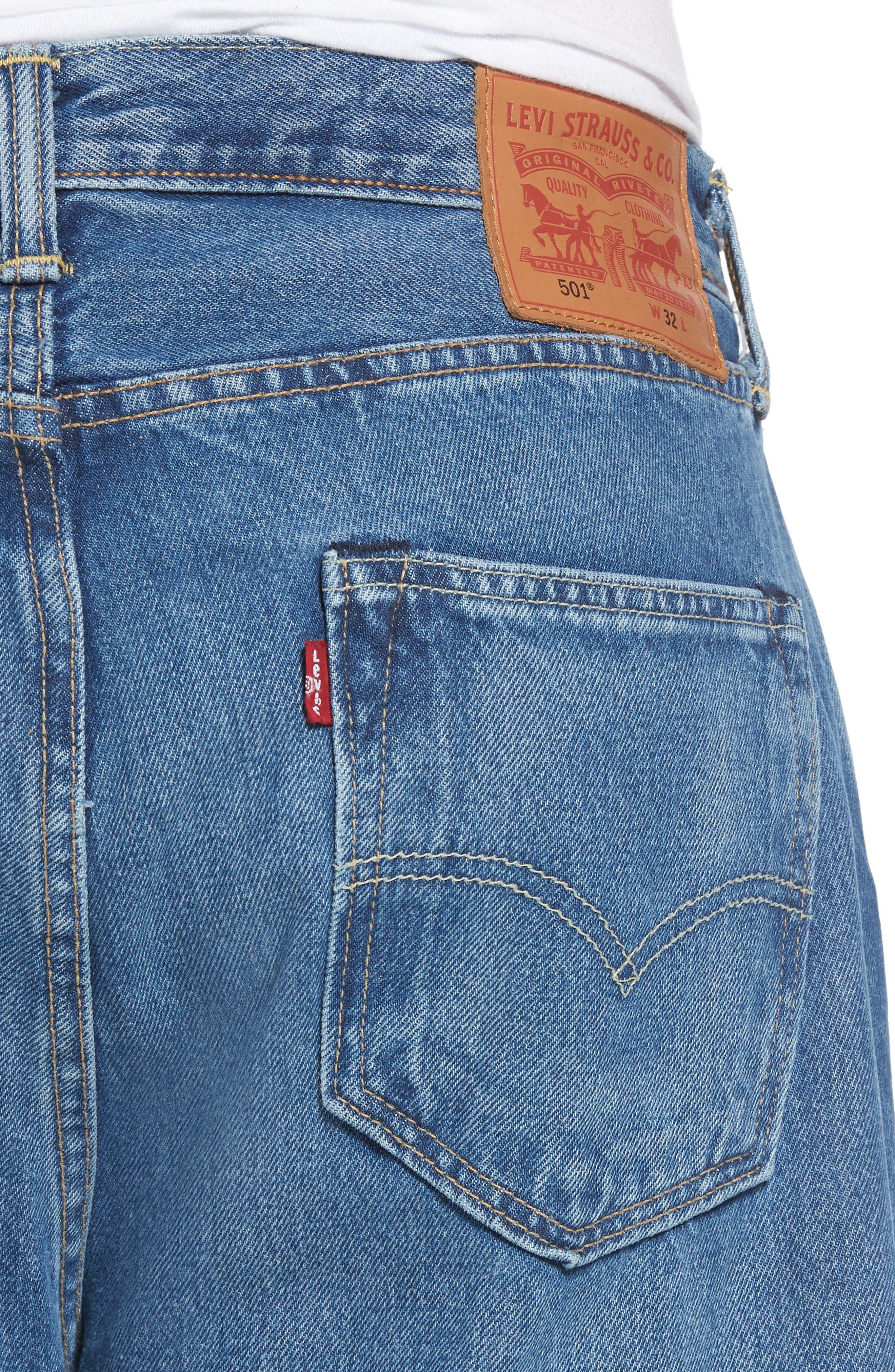 Alternate Image 4  - Levi's® 501™ Straight Leg Jeans (Bunker Indigo)