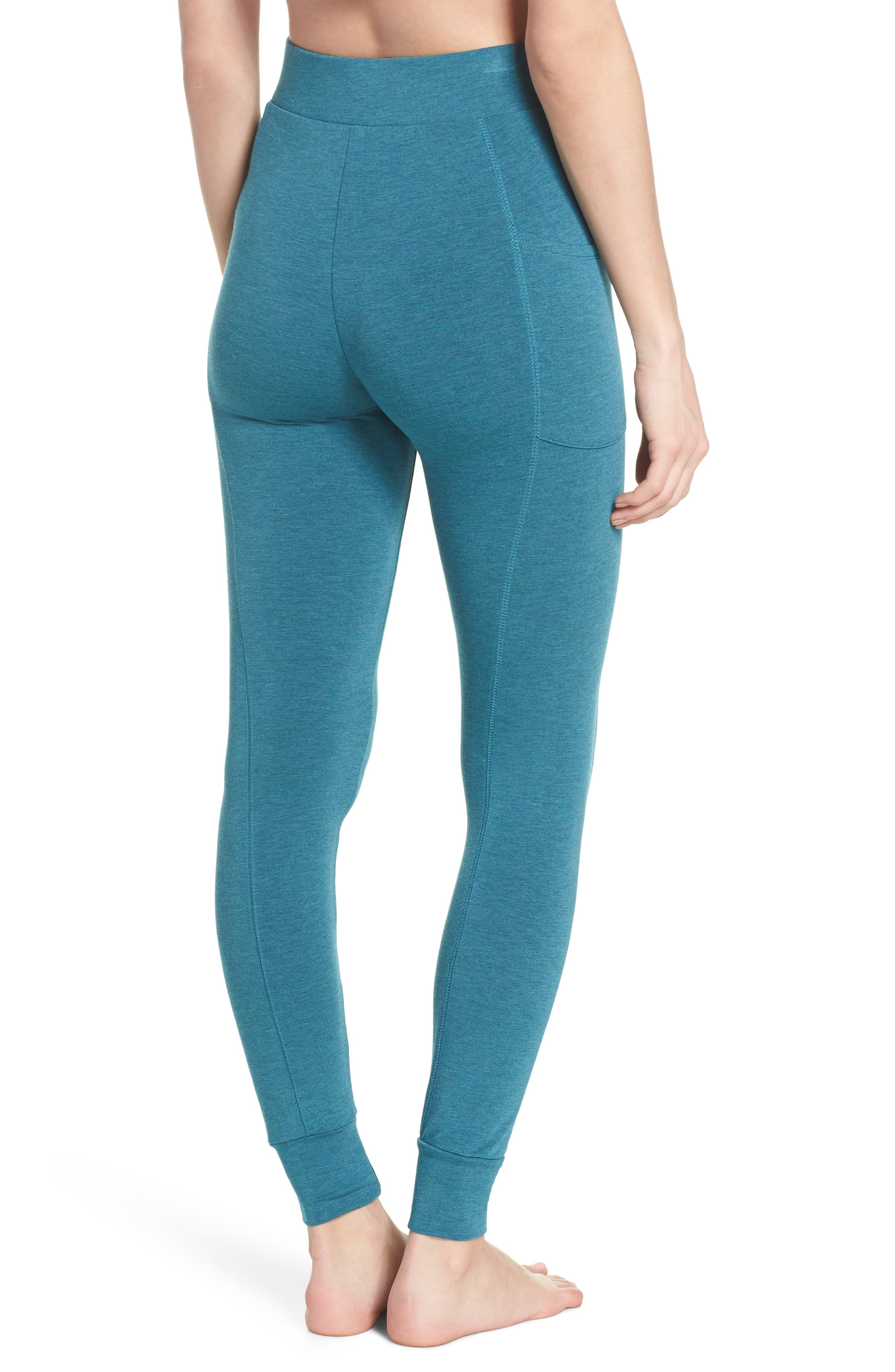 Kickin' It French Terry High Waist Lounge Leggings,                             Alternate thumbnail 2, color,                             Love Fern