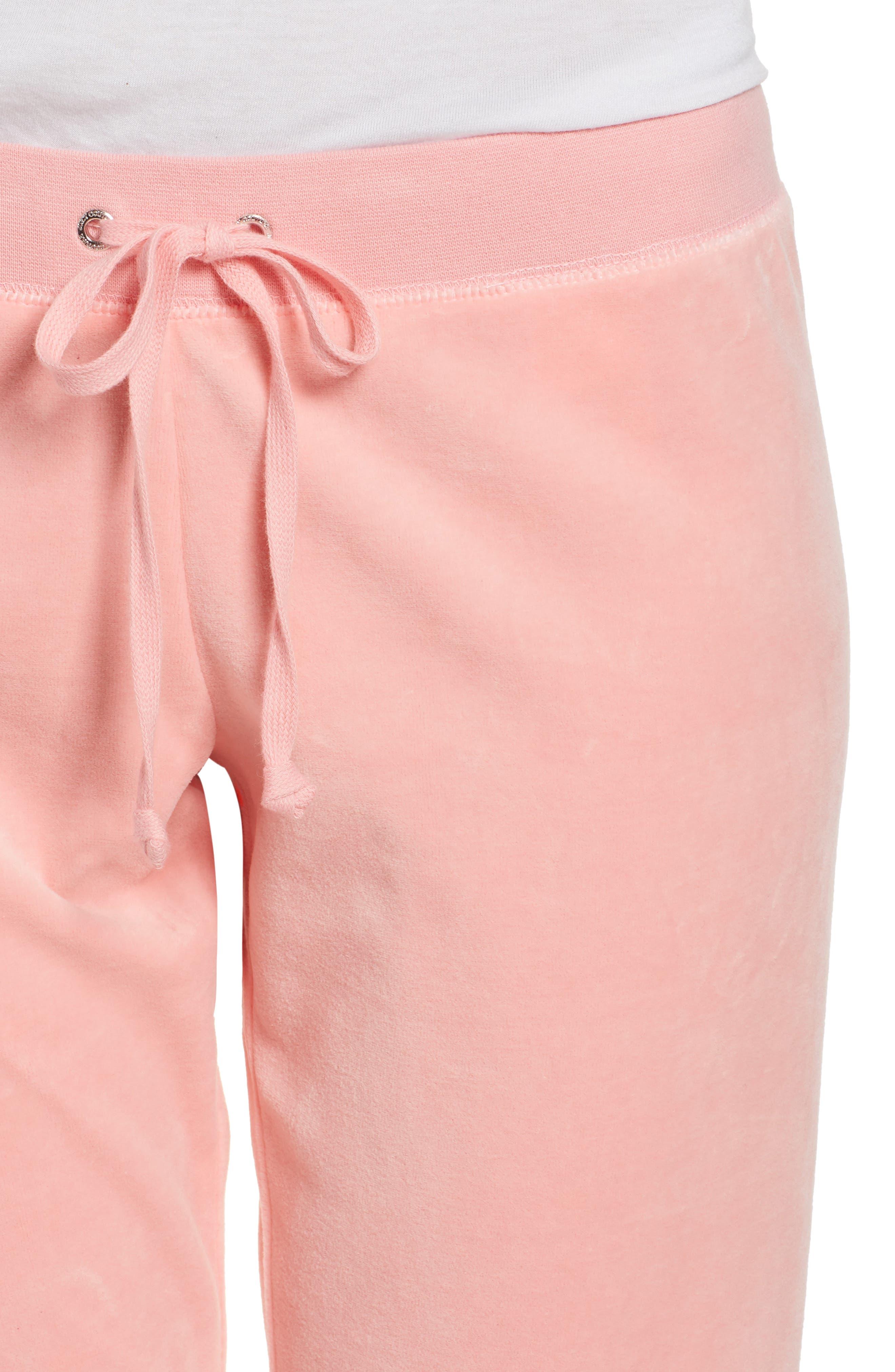 Zuma Velour Track Pants,                             Alternate thumbnail 4, color,                             Sorbet Pink