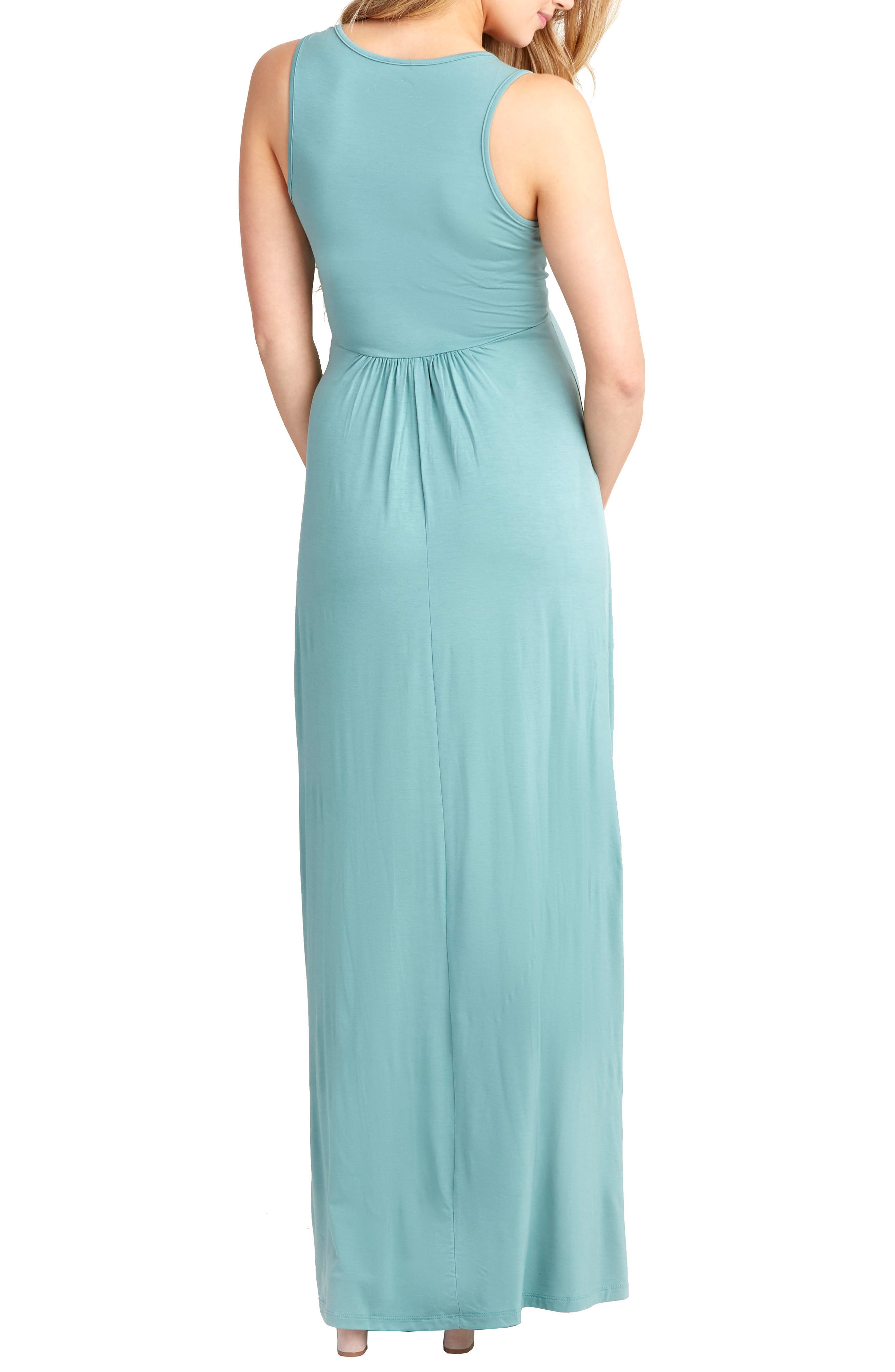 Hollis Maternity/Nursing Maxi Dress,                             Alternate thumbnail 2, color,                             Sea