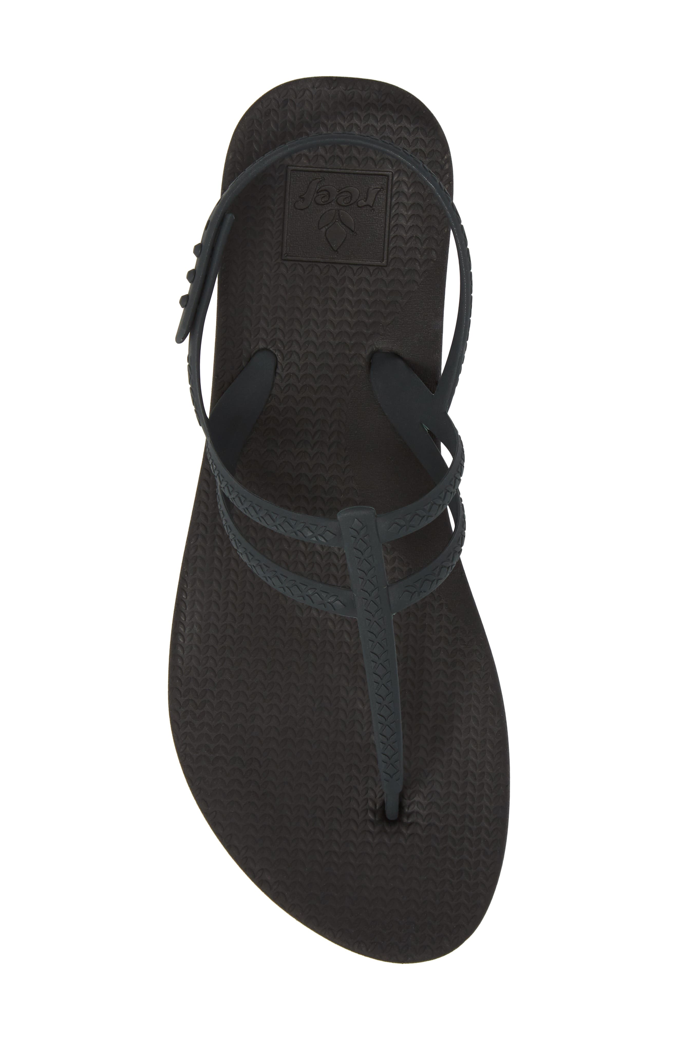 Escape Lux T-Strap Sandal,                             Alternate thumbnail 5, color,                             Black