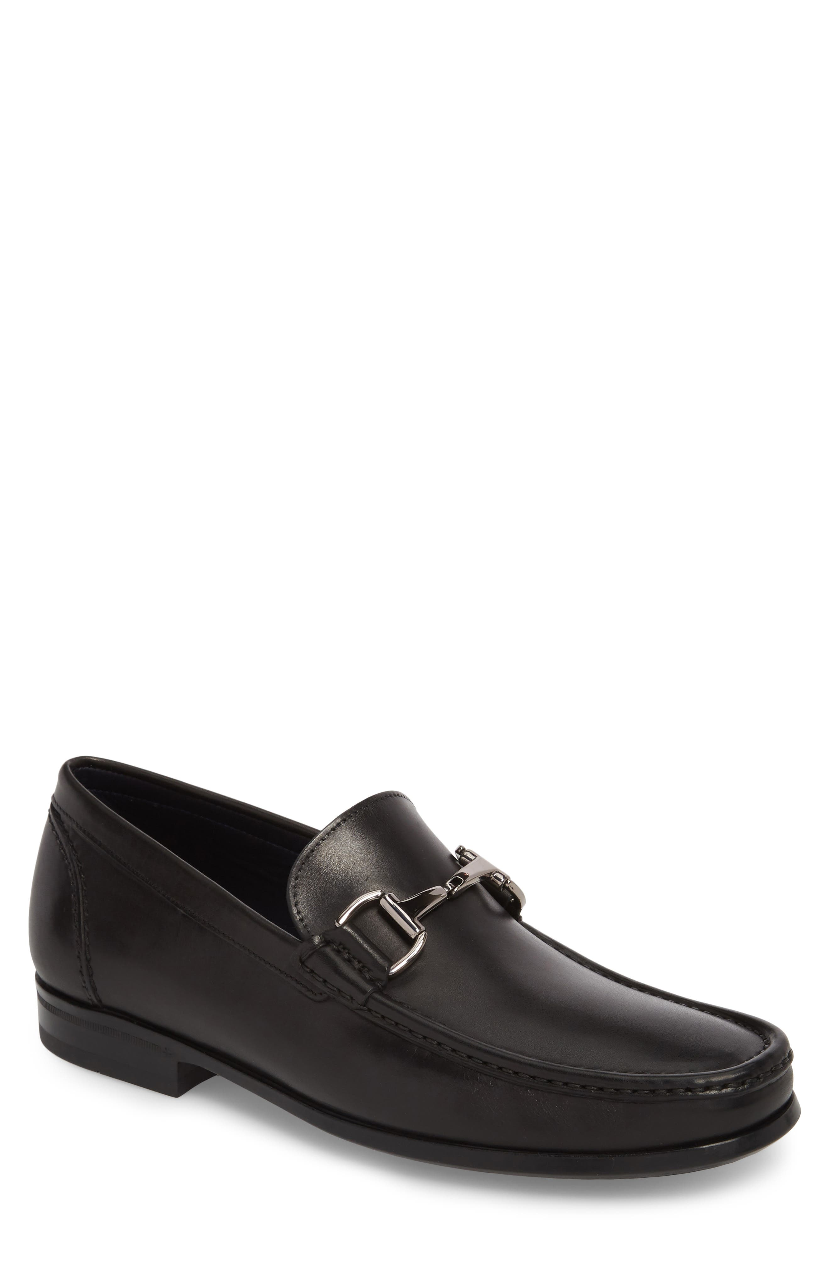 Gio Bit Loafer,                         Main,                         color, Black Leather