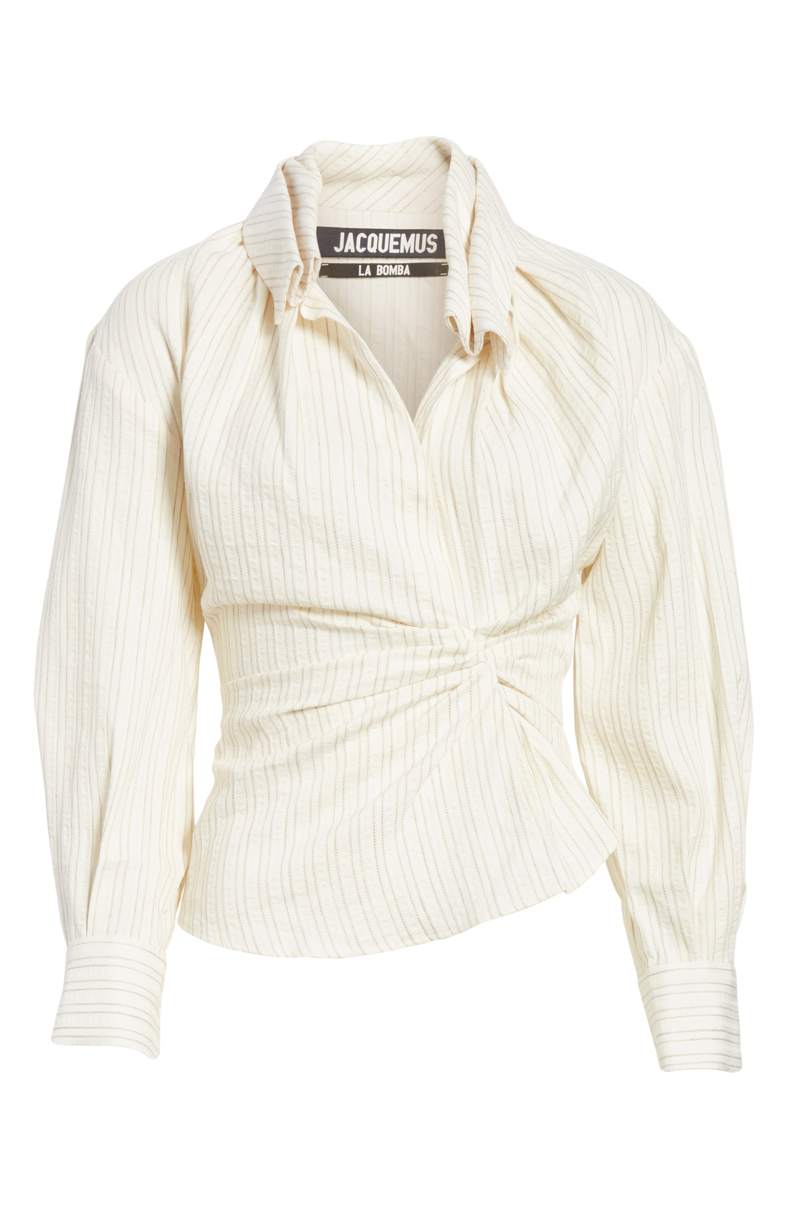 La Chemise Belem Shirt,                             Alternate thumbnail 6, color,                             Beige Striped