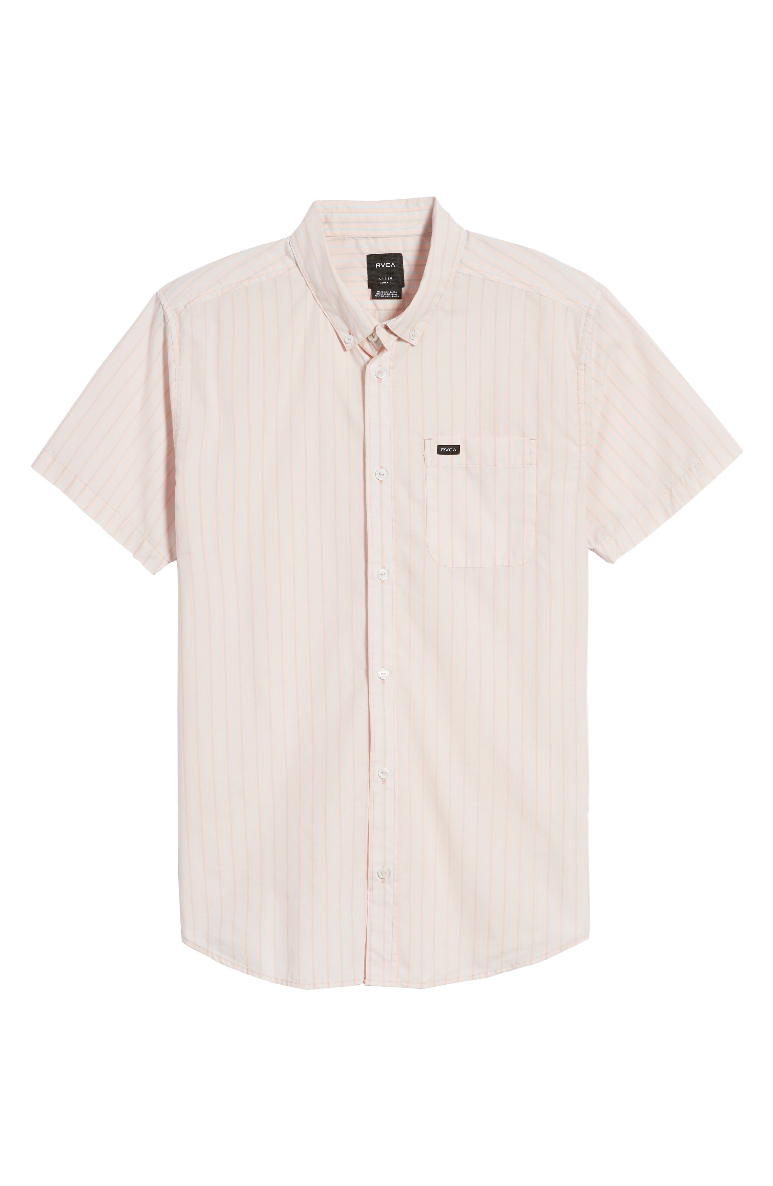 Alternate Image 6  - RVCA Everyday Stripe Shirt