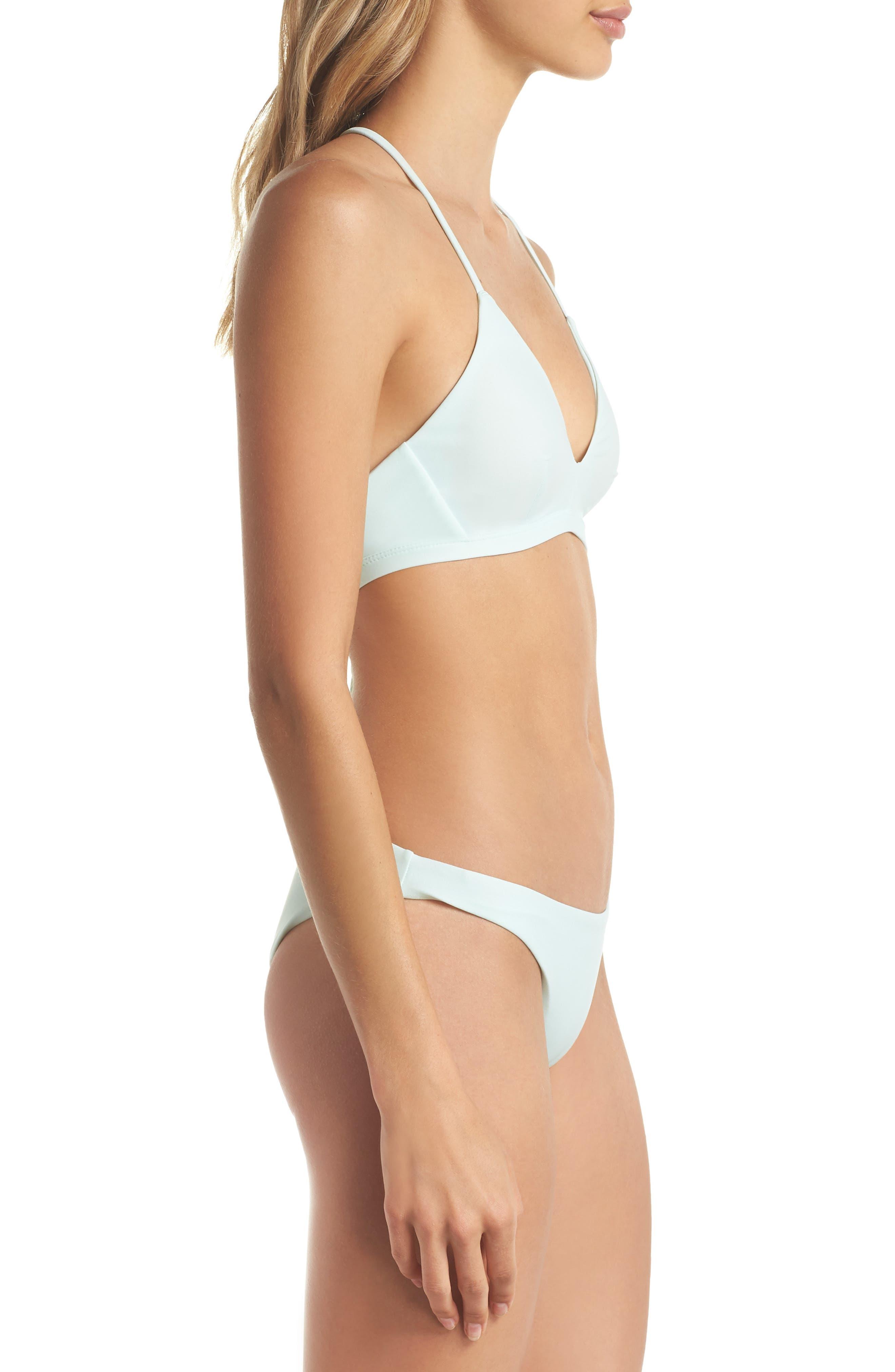 Quick Dry Surf Bikini Top,                             Alternate thumbnail 6, color,                             Igloo