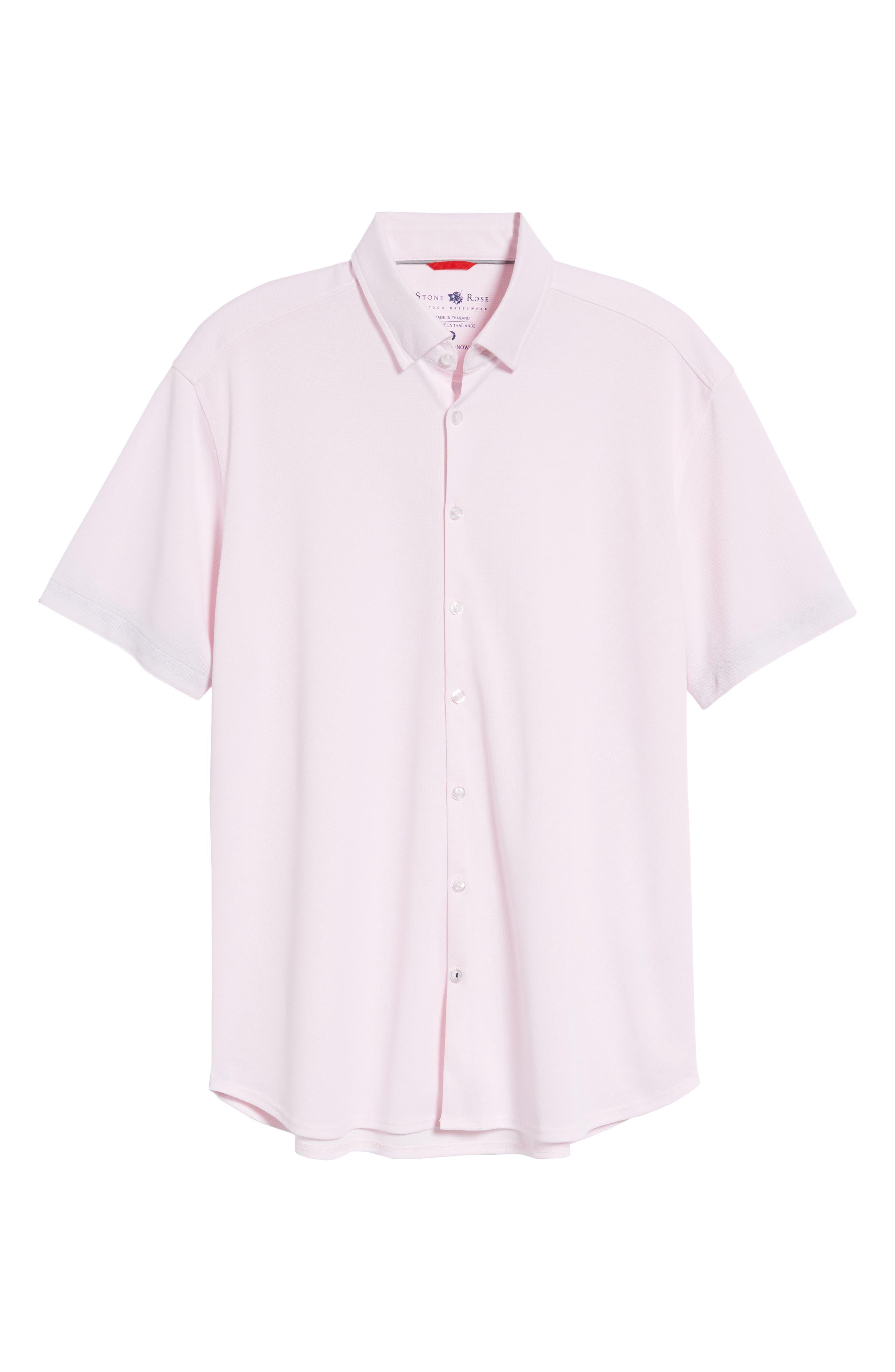 Knit Sport Shirt,                             Alternate thumbnail 6, color,                             Pink