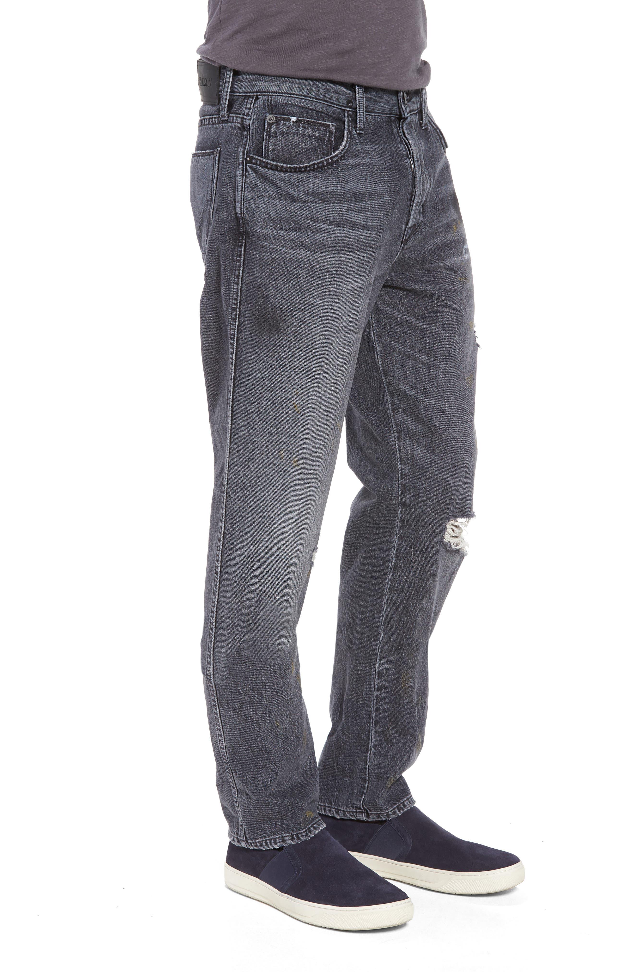 Dixon Straight Leg Jeans,                             Alternate thumbnail 3, color,                             Hurricane
