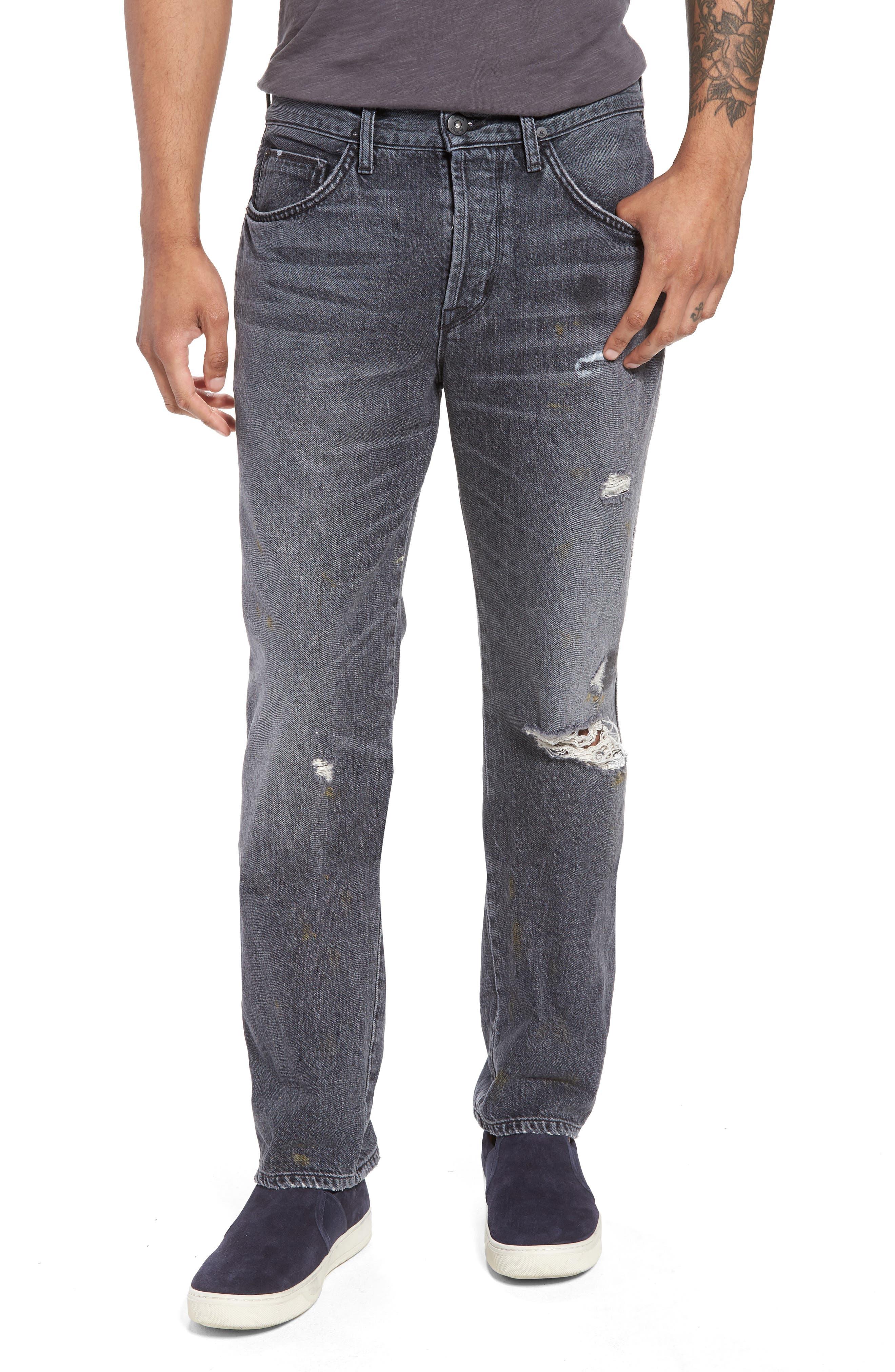 Hudson Jeans Dixon Straight Leg Jeans (Hurricane)