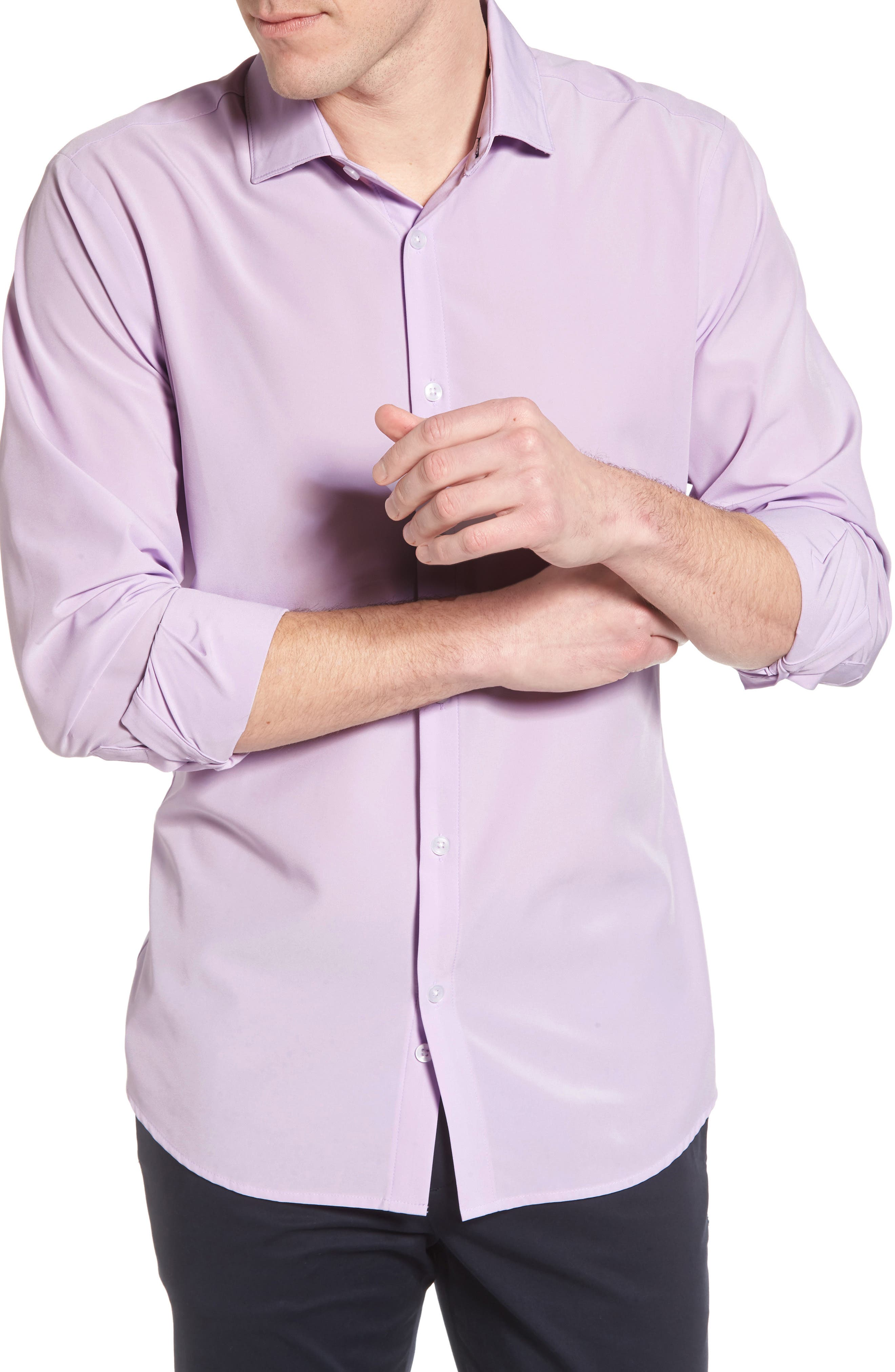 Henderson Performance Sport Shirt,                             Alternate thumbnail 4, color,                             Purple