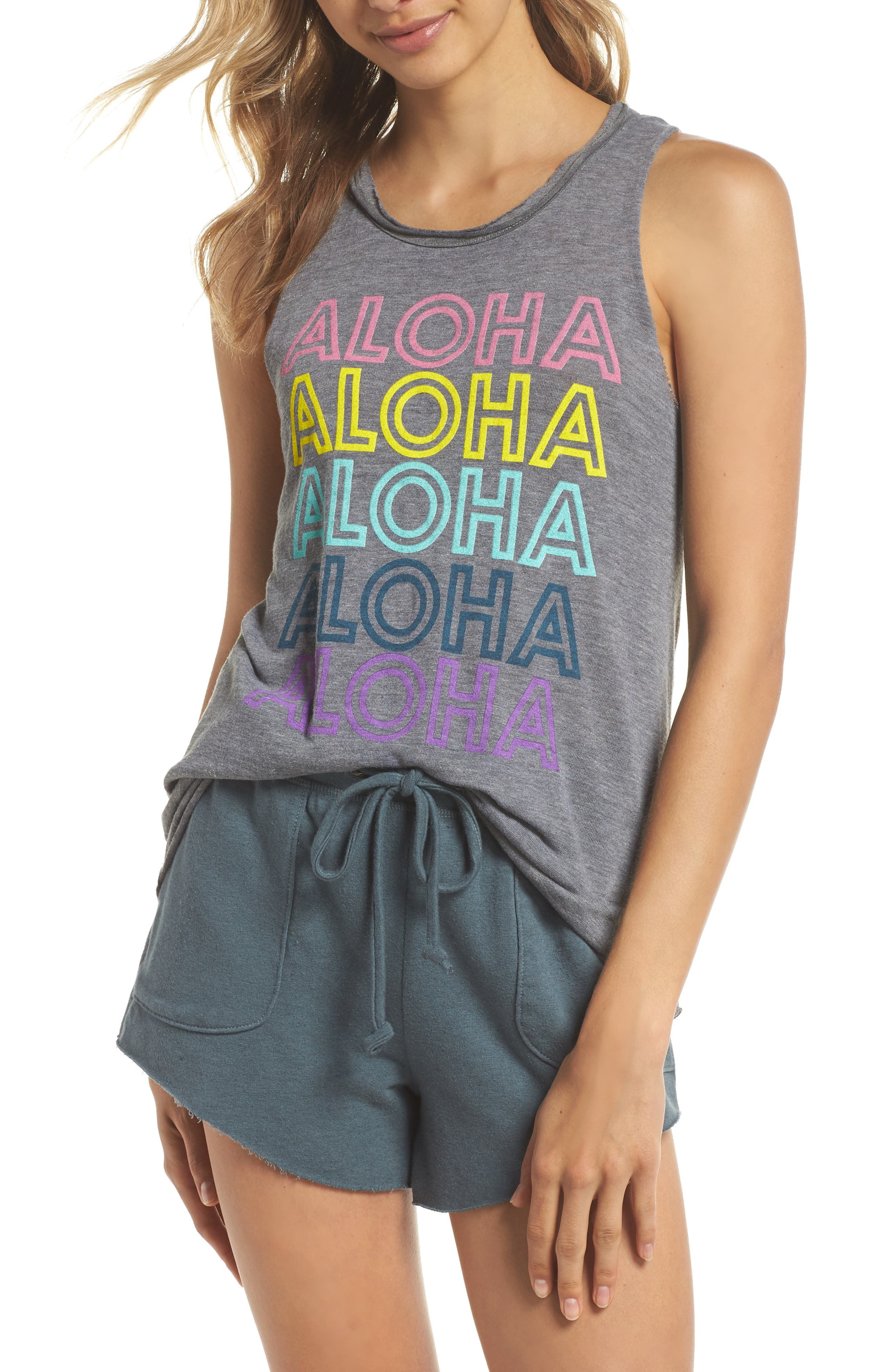 Chaser Aloha Muscle Tank
