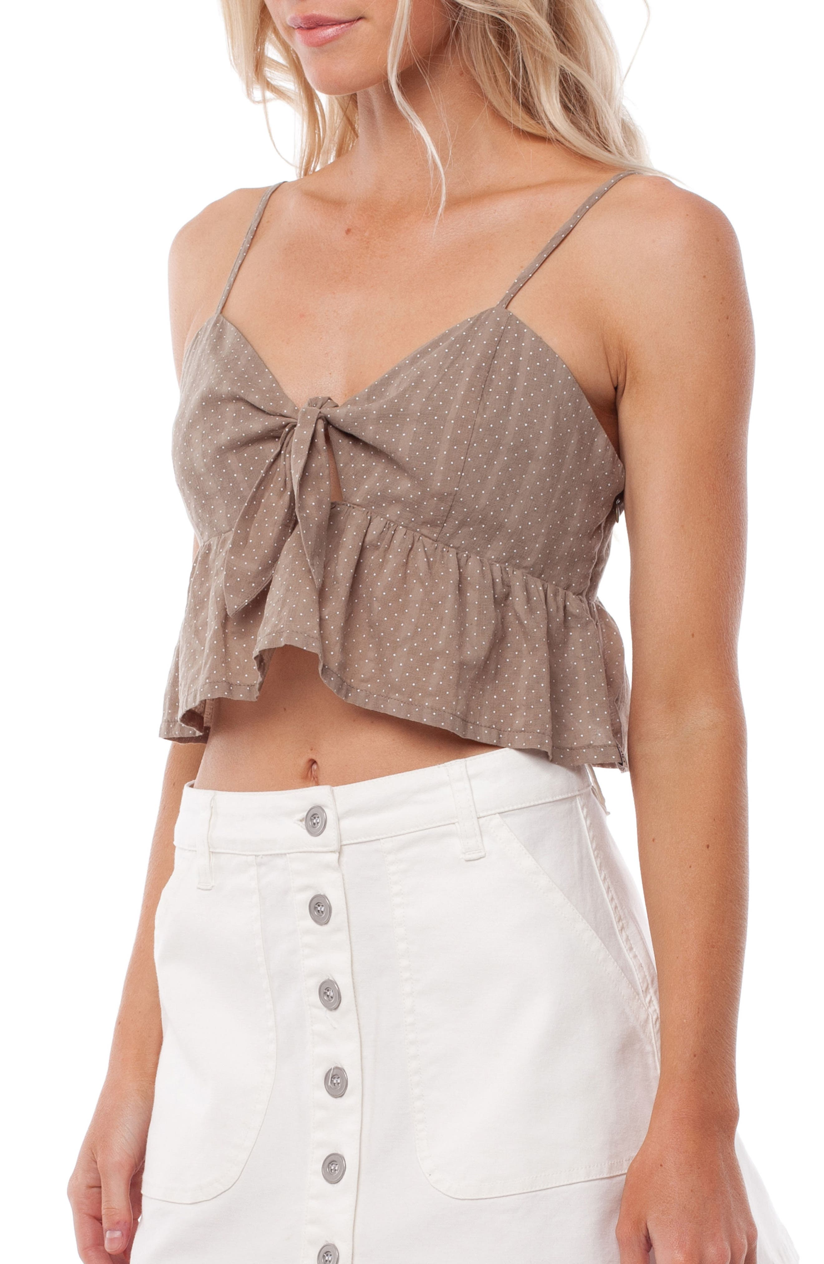 Messina Cover-Up Top,                             Alternate thumbnail 3, color,                             Chai