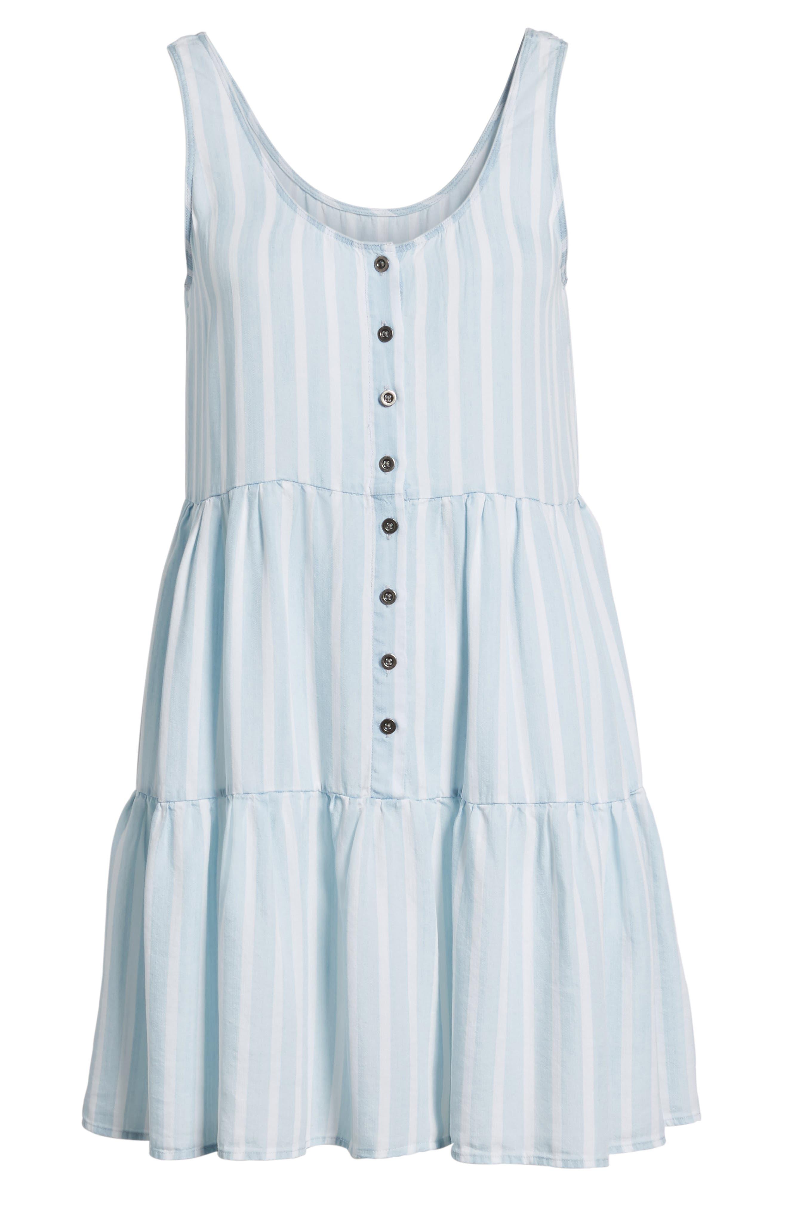 Nora Stripe Dress,                             Alternate thumbnail 7, color,                             Hampshire Stripe