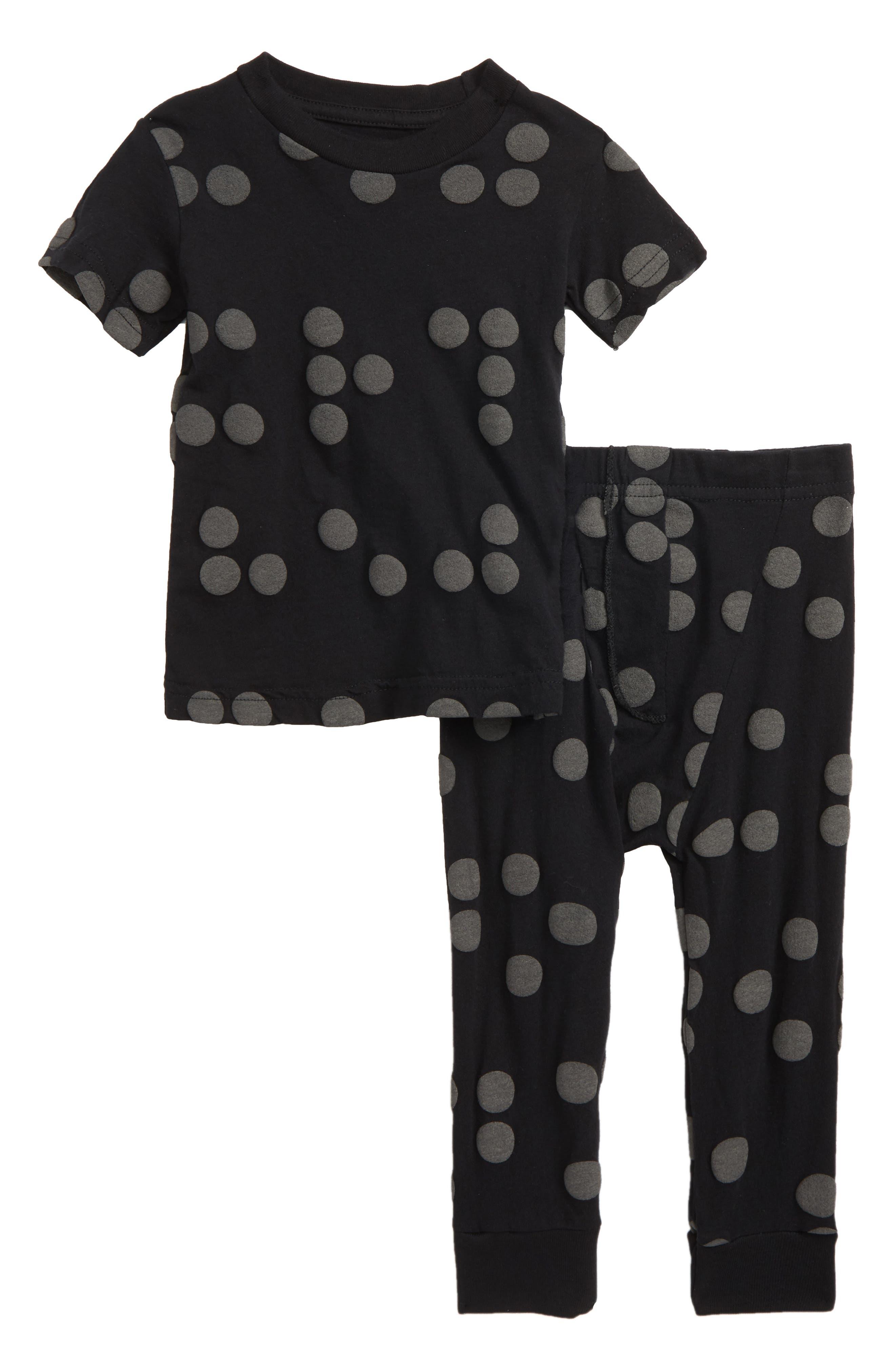Braille Shirt & Pants Set,                         Main,                         color, Black