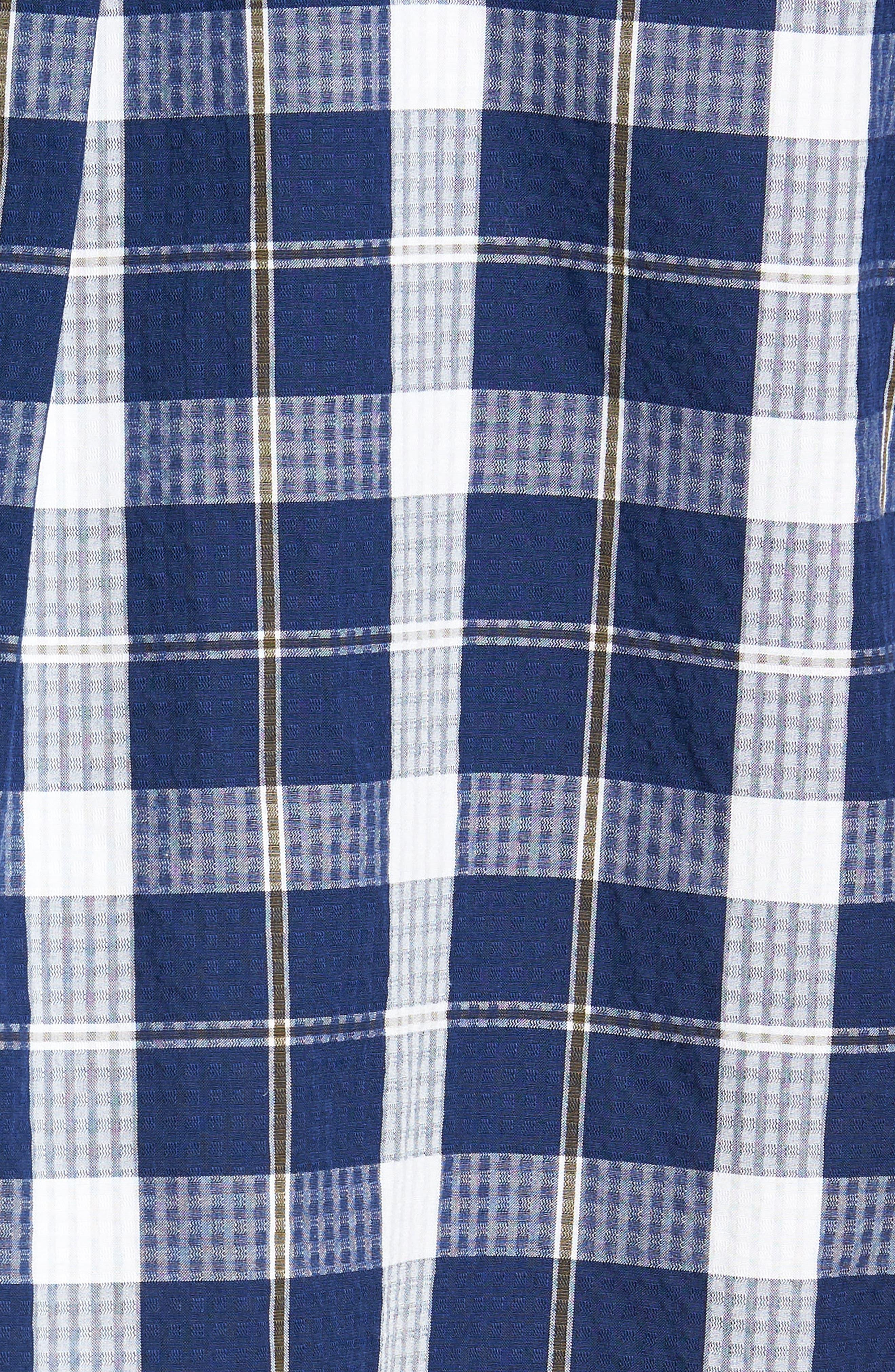 Bradford Regular Fit Sport Shirt,                             Alternate thumbnail 5, color,                             Navy
