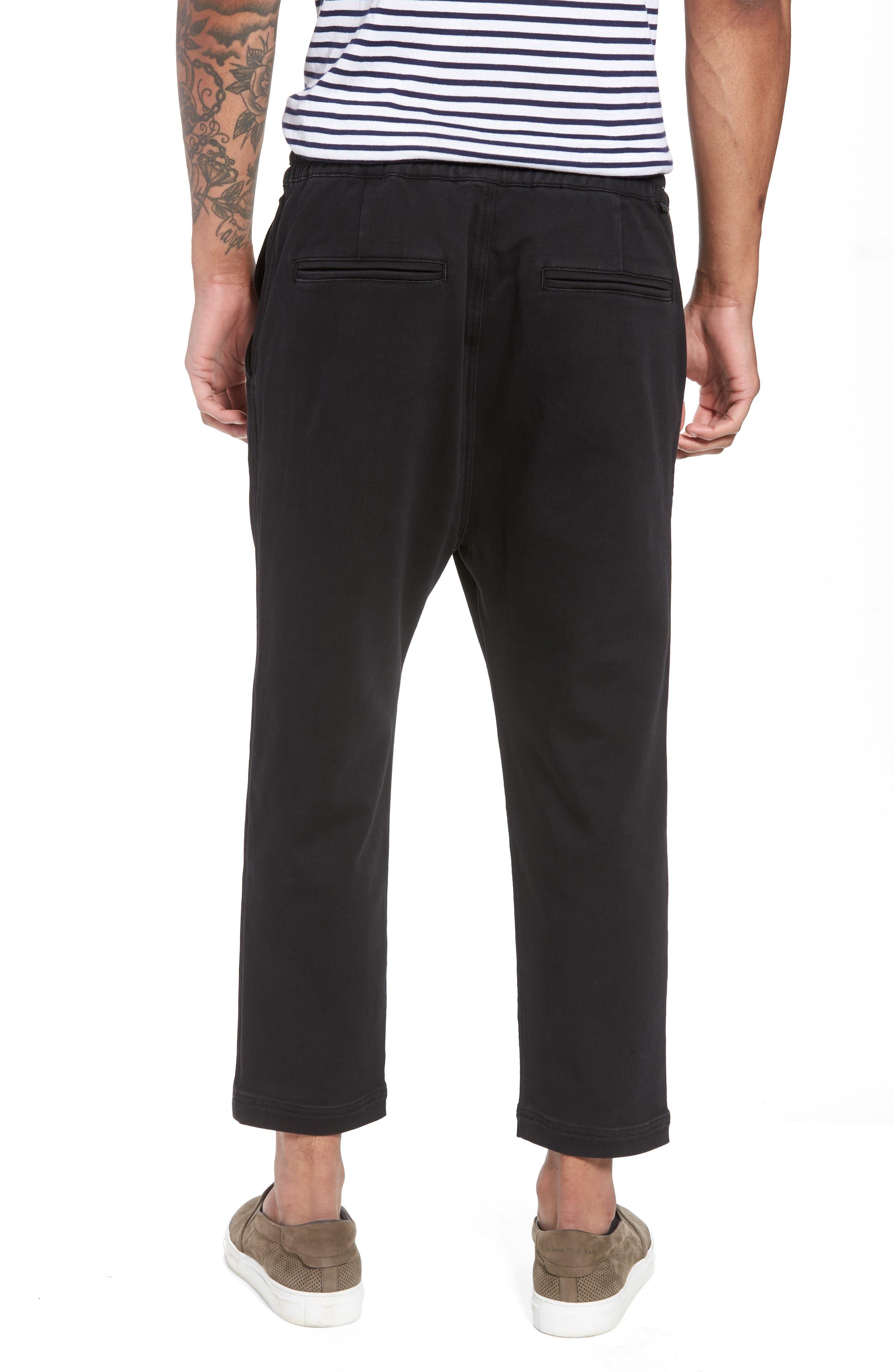 Hudson Leo Drop Crotch Pants,                             Alternate thumbnail 2, color,                             Black