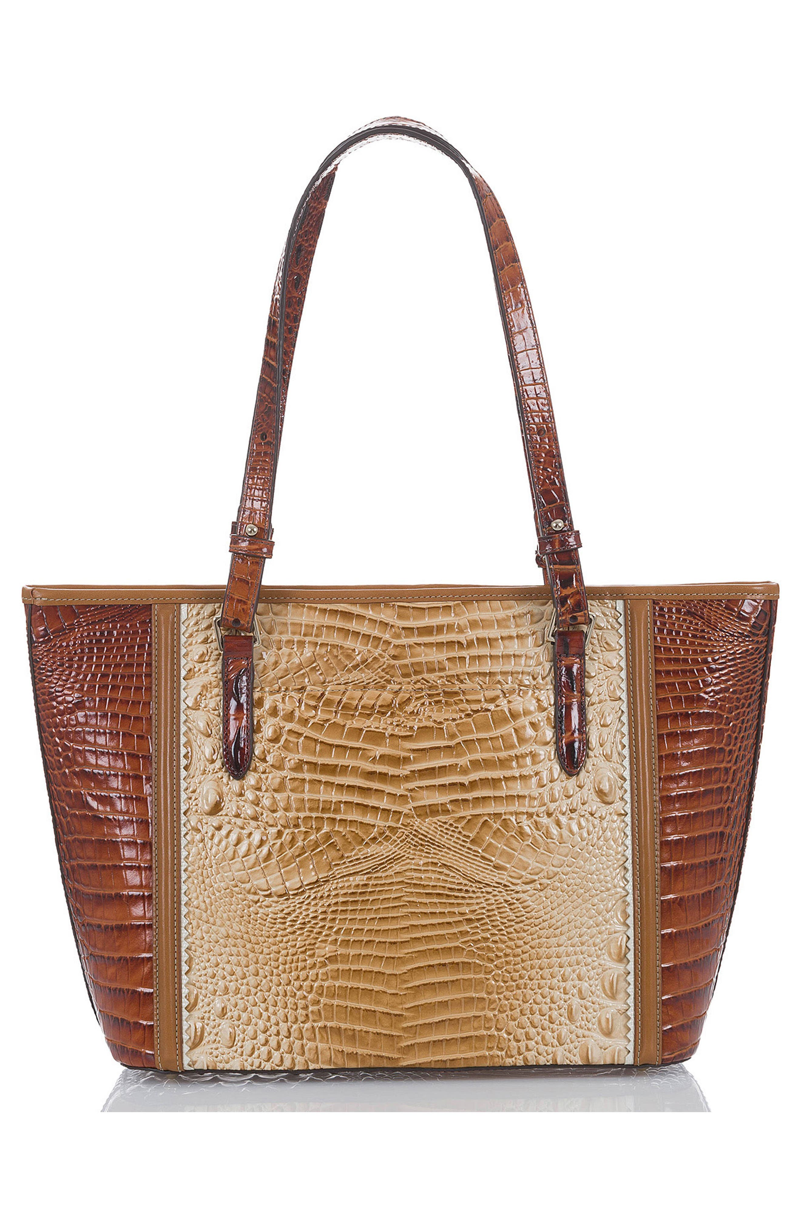 Medium Asher Embossed Leather Tote,                             Alternate thumbnail 2, color,                             Chino