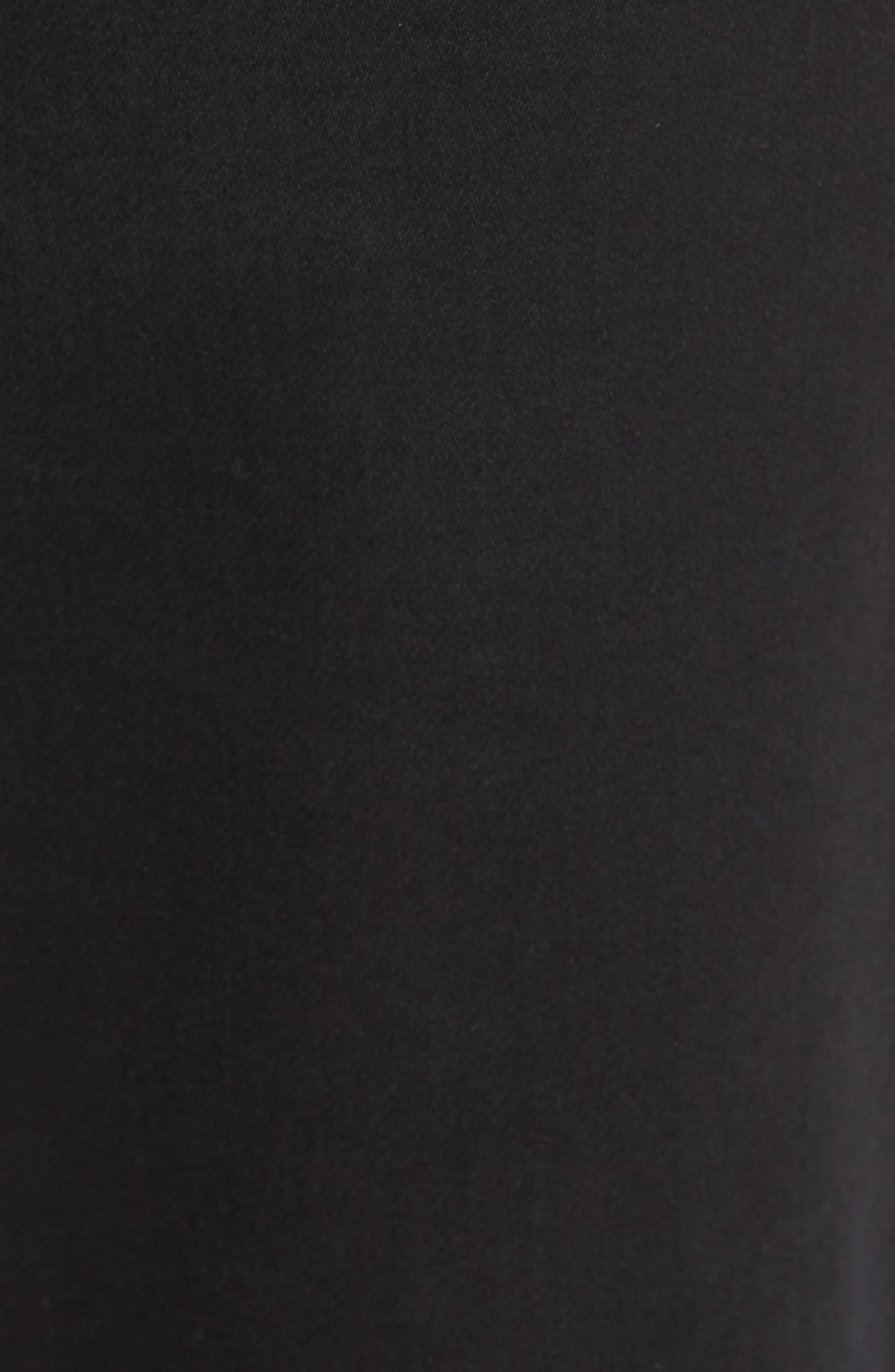 Hudson Leo Drop Crotch Pants,                             Alternate thumbnail 5, color,                             Black