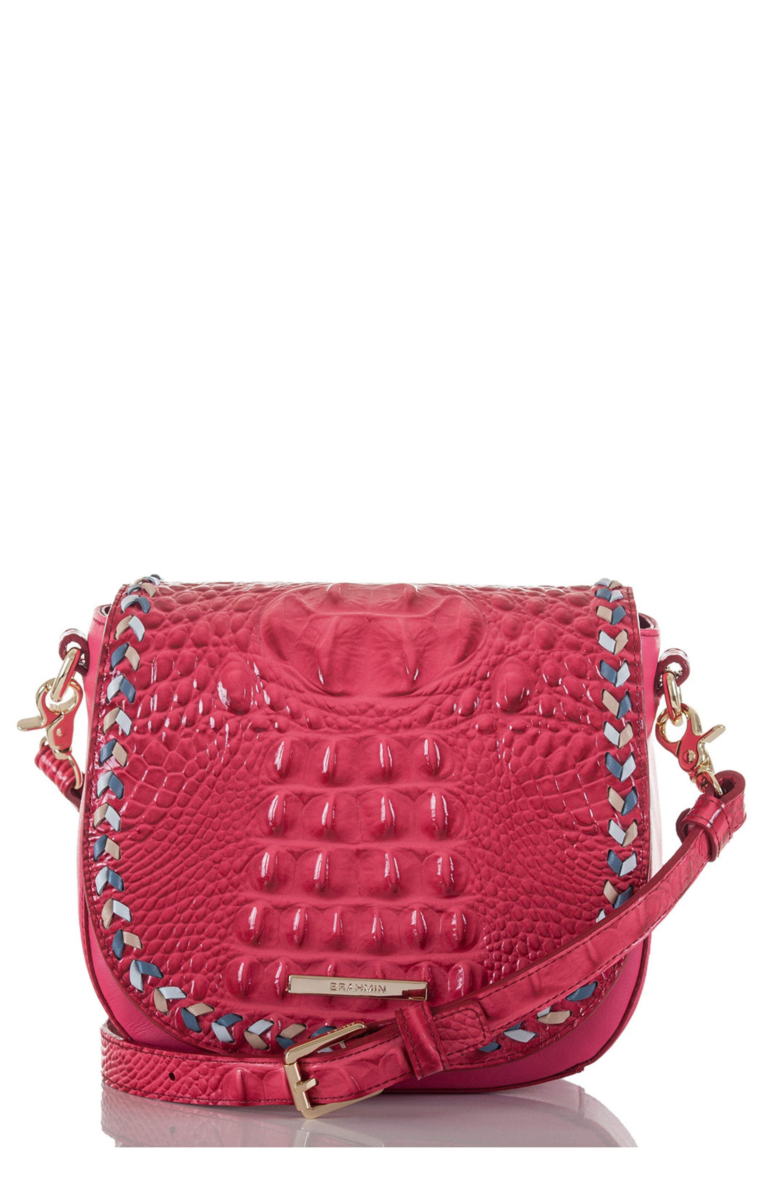 Mini Sonny Whipstitched Leather Crossbody Bag,                         Main,                         color, Ribbon