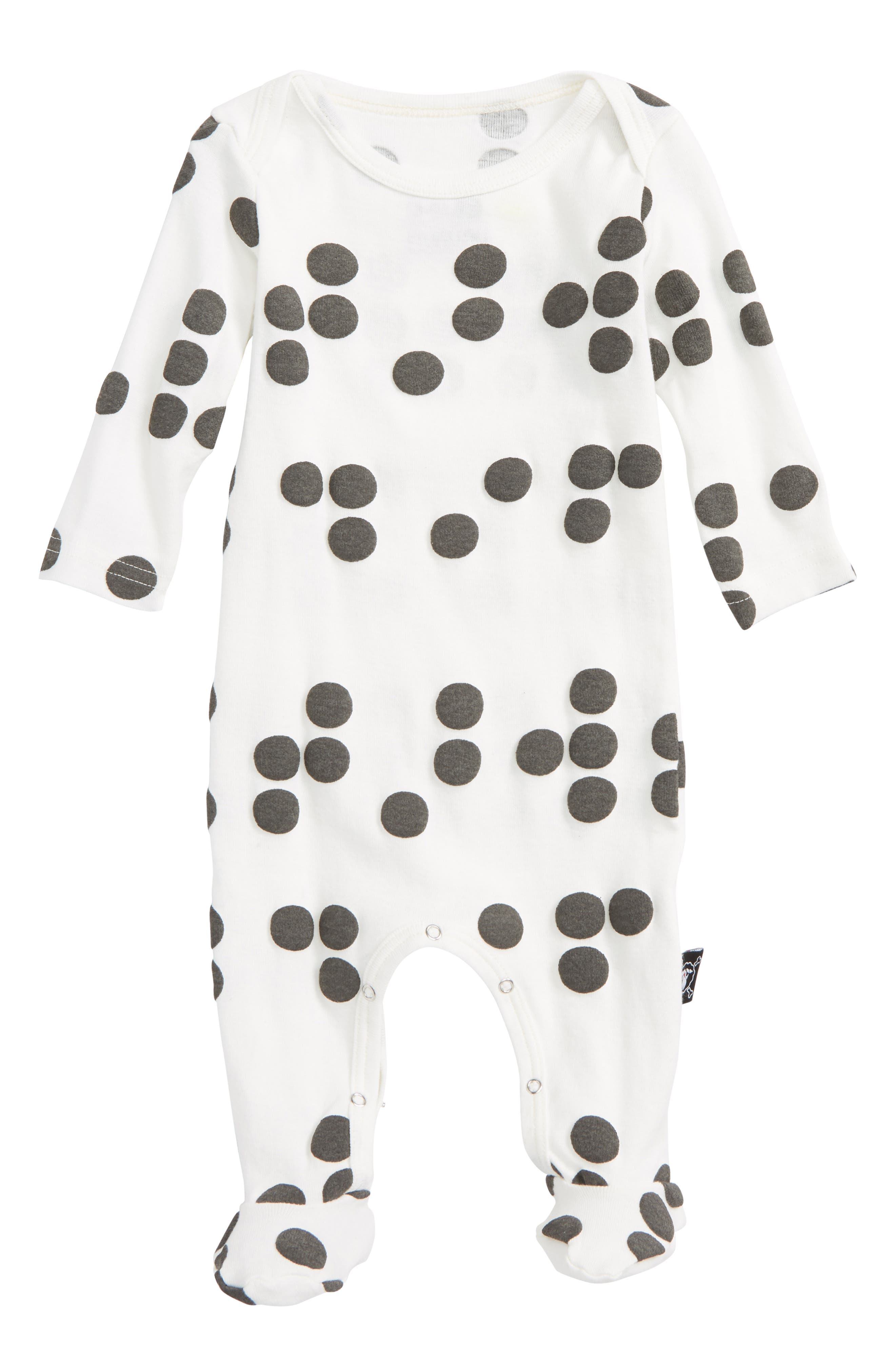 Braille Footie,                         Main,                         color, White